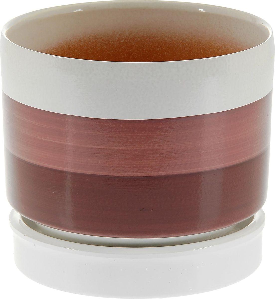 Кашпо Мари, цвет: бордовый, 3,4 л1130141