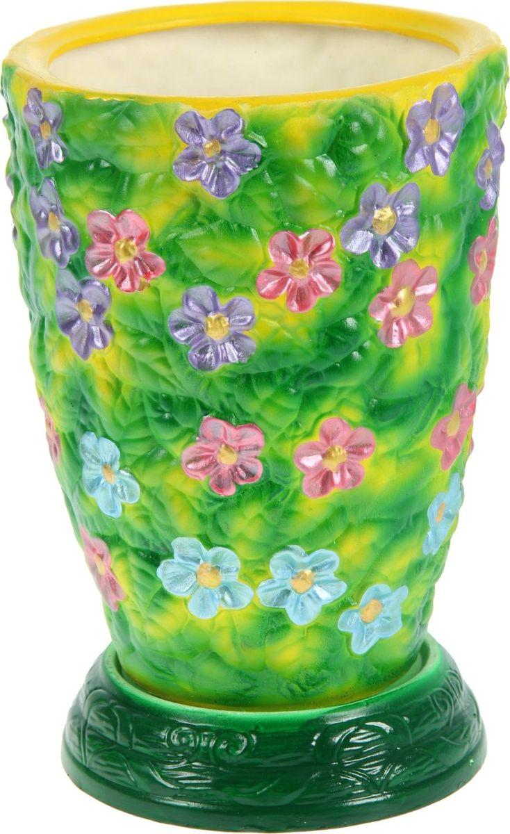 Кашпо Керамика ручной работы Фиалка, 5 л1130591Комнатные растения — всеобщие любимцы. Они радуют глаз, насыщают помещение кислородом и украшают пространство. Каждому из них необходим свой удобный и красивый дом. Кашпо из керамики прекрасно подходят для высадки растений: за счет пластичности глины и разных способов обработки существует великое множество форм и дизайнов пористый материал позволяет испаряться лишней влаге воздух, необходимый для дыхания корней, проникает сквозь керамические стенки! позаботится о зеленом питомце, освежит интерьер и подчеркнет его стиль.