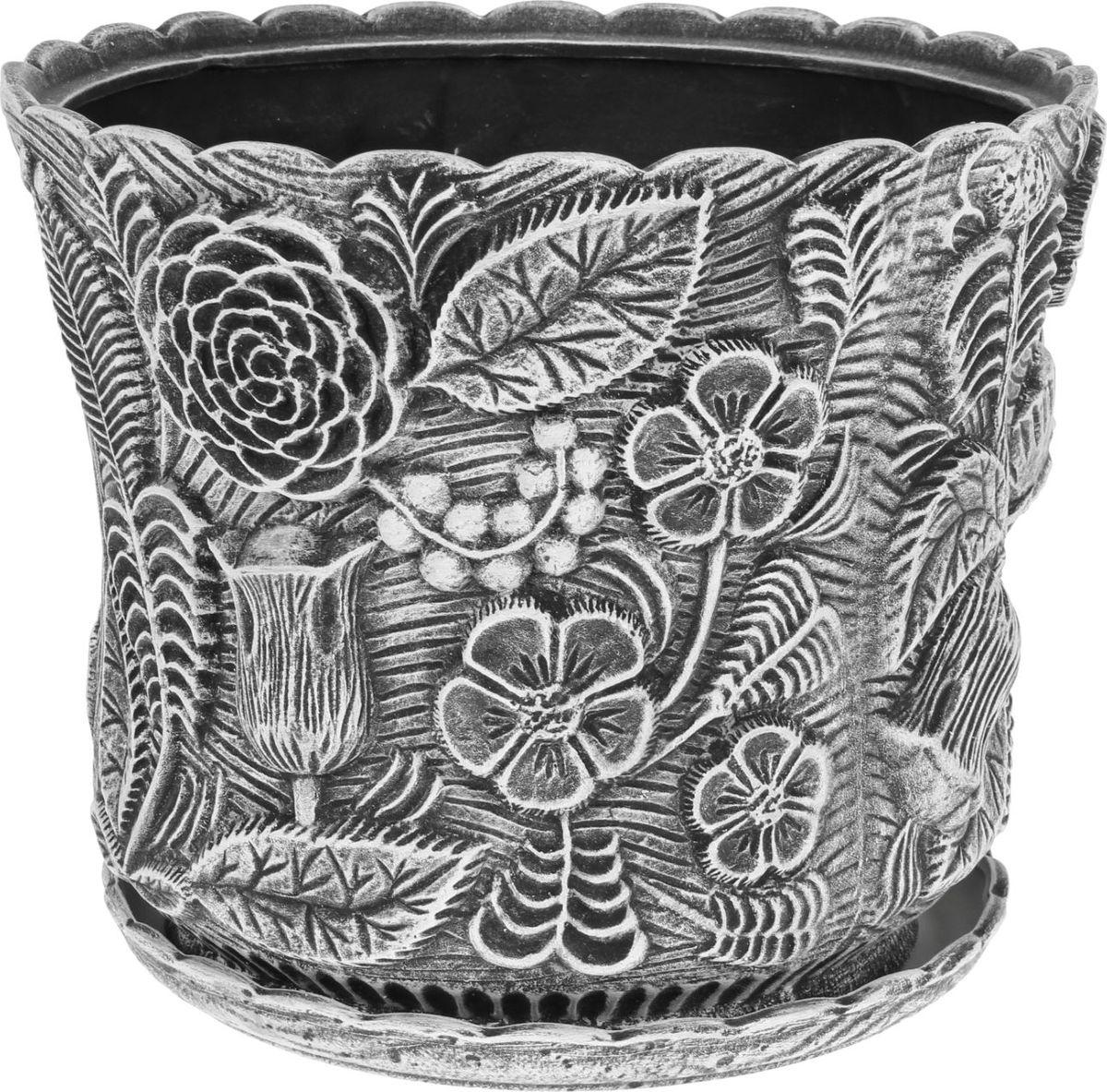 Кашпо Керамика ручной работы Черно-белый букет, 30 л1130595