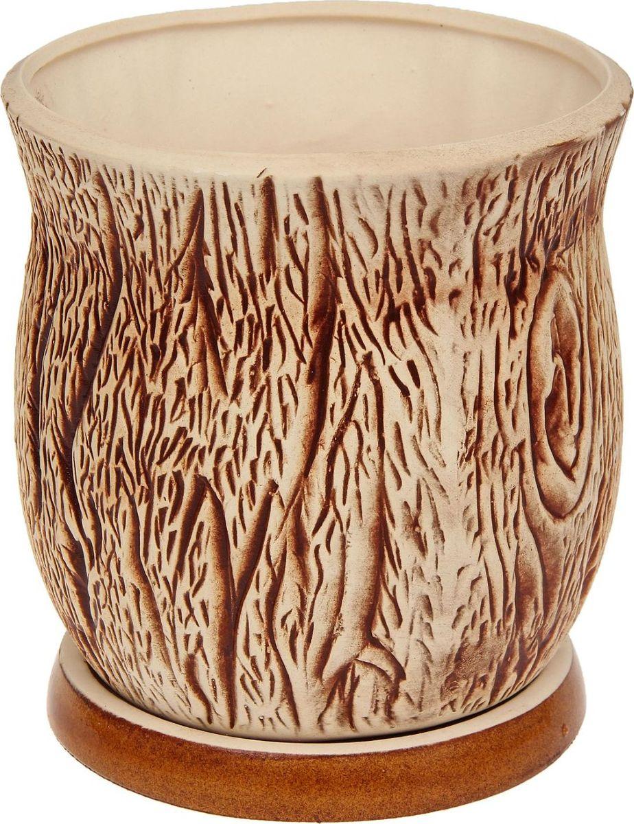 Кашпо Керамика ручной работы Пень, 1,6 л1131514Комнатные растения — всеобщие любимцы. Они радуют глаз, насыщают помещение кислородом и украшают пространство. Каждому из них необходим свой удобный и красивый дом.Кашпо из керамики прекрасно подходят для высадки растений: за счет пластичности глины и разных способов обработки существует великое множество форм и дизайнов пористый материал позволяет испаряться лишней влаге воздух, необходимый для дыхания корней, проникает сквозь керамические стенки!