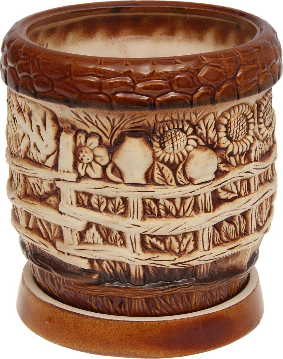 Кашпо Керамика ручной работы Село, 2,4 л1131517Комнатные растения — всеобщие любимцы. Они радуют глаз, насыщают помещение кислородом и украшают пространство. Каждому из них необходим свой удобный и красивый дом. Кашпо из керамики прекрасно подходят для высадки растений: за счет пластичности глины и разных способов обработки существует великое множество форм и дизайнов пористый материал позволяет испаряться лишней влаге воздух, необходимый для дыхания корней, проникает сквозь керамические стенки! Позаботится о зеленом питомце, освежит интерьер и подчеркнет его стиль.