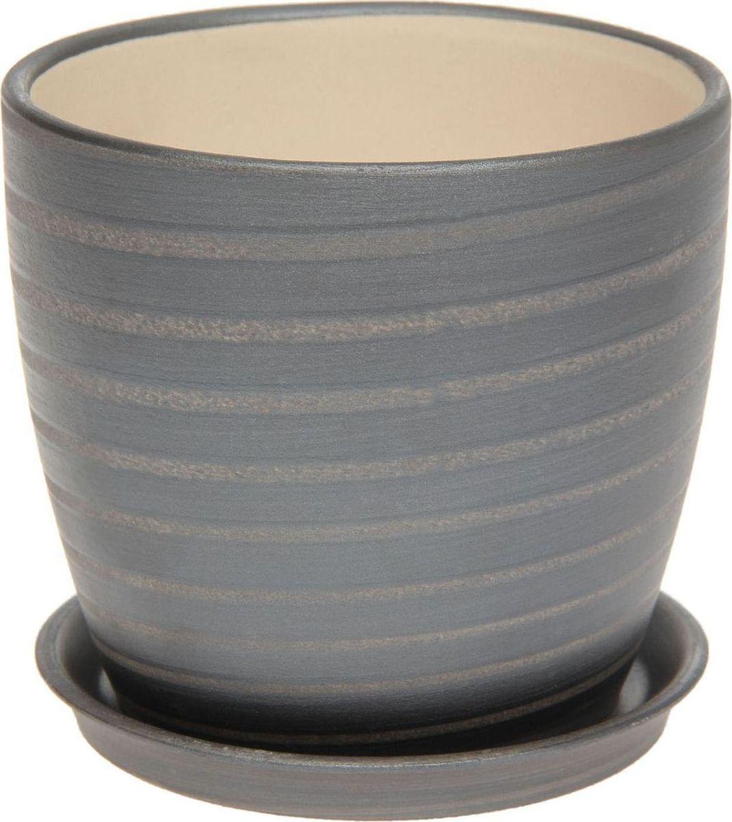 Кашпо Керамика ручной работы Осень. Радуга, цвет: черный, 1 л1131670Комнатные растения — всеобщие любимцы. Они радуют глаз, насыщают помещение кислородом и украшают пространство. Каждому из них необходим свой удобный и красивый дом. Кашпо из керамики прекрасно подходят для высадки растений: за счёт пластичности глины и разных способов обработки существует великое множество форм и дизайновпористый материал позволяет испаряться лишней влагевоздух, необходимый для дыхания корней, проникает сквозь керамические стенки! #name# позаботится о зелёном питомце, освежит интерьер и подчеркнёт его стиль.