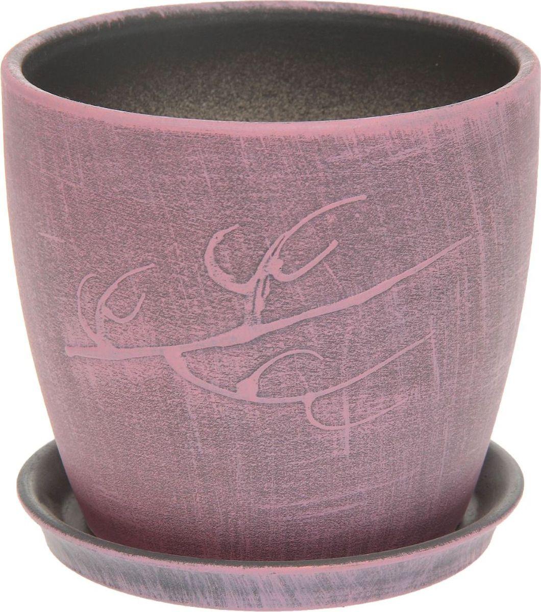 Кашпо Керамика ручной работы Осень. Патина, цвет: розовый, 1 л1131671Комнатные растения — всеобщие любимцы. Они радуют глаз, насыщают помещение кислородом и украшают пространство. Каждому из них необходим свой удобный и красивый дом. Кашпо из керамики прекрасно подходят для высадки растений: за счёт пластичности глины и разных способов обработки существует великое множество форм и дизайновпористый материал позволяет испаряться лишней влагевоздух, необходимый для дыхания корней, проникает сквозь керамические стенки! #name# позаботится о зелёном питомце, освежит интерьер и подчеркнёт его стиль.
