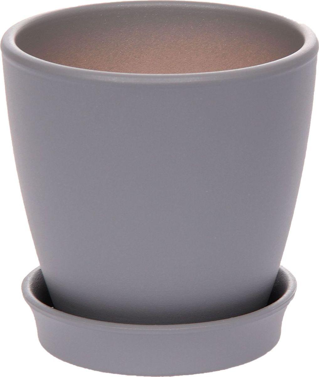 Кашпо Керамика ручной работы Виктория, цвет: серый, 0,6 л1134109Кашпо серии «Каменный цветок» выполнено из белой глины методом формовки и покрыто лаком. Керамическая ёмкость имеет объём, оптимальный для создания наилучших условий развития большинства растений.Устойчивый глубокий поддон защитит поверхность стола или подставки от жидкости.Благодаря строгим стандартам производства изделия отличаются правильной формой, отсутствием дефектов, имеют достаточную тяжесть для надёжной фиксации конструкции.Окраска моделей не восприимчива к прямым солнечным лучам, а в цветовой гамме преобладают яркие и насыщенные оттенки.Красота, удобство и долговечность кашпо серии «Каменный цветок» порадует любителей высококачественных аксессуаров для комнатных растений.