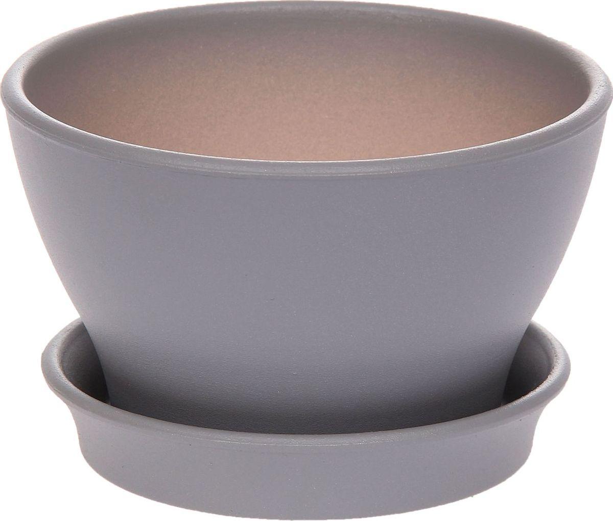 Кашпо Керамика ручной работы Ксения, цвет: серый, 0,5 л1134126Декоративное кашпо, выполненное из высококачественной керамики, предназначено для посадки декоративных растений и станет прекрасным украшением для дома. Пористый материал позволяет испаряться лишней влаге, а воздух, необходимый для дыхания корней, проникает сквозь керамические стенки. Такое кашпо украсит окружающее пространство и подчеркнет его оригинальный стиль.