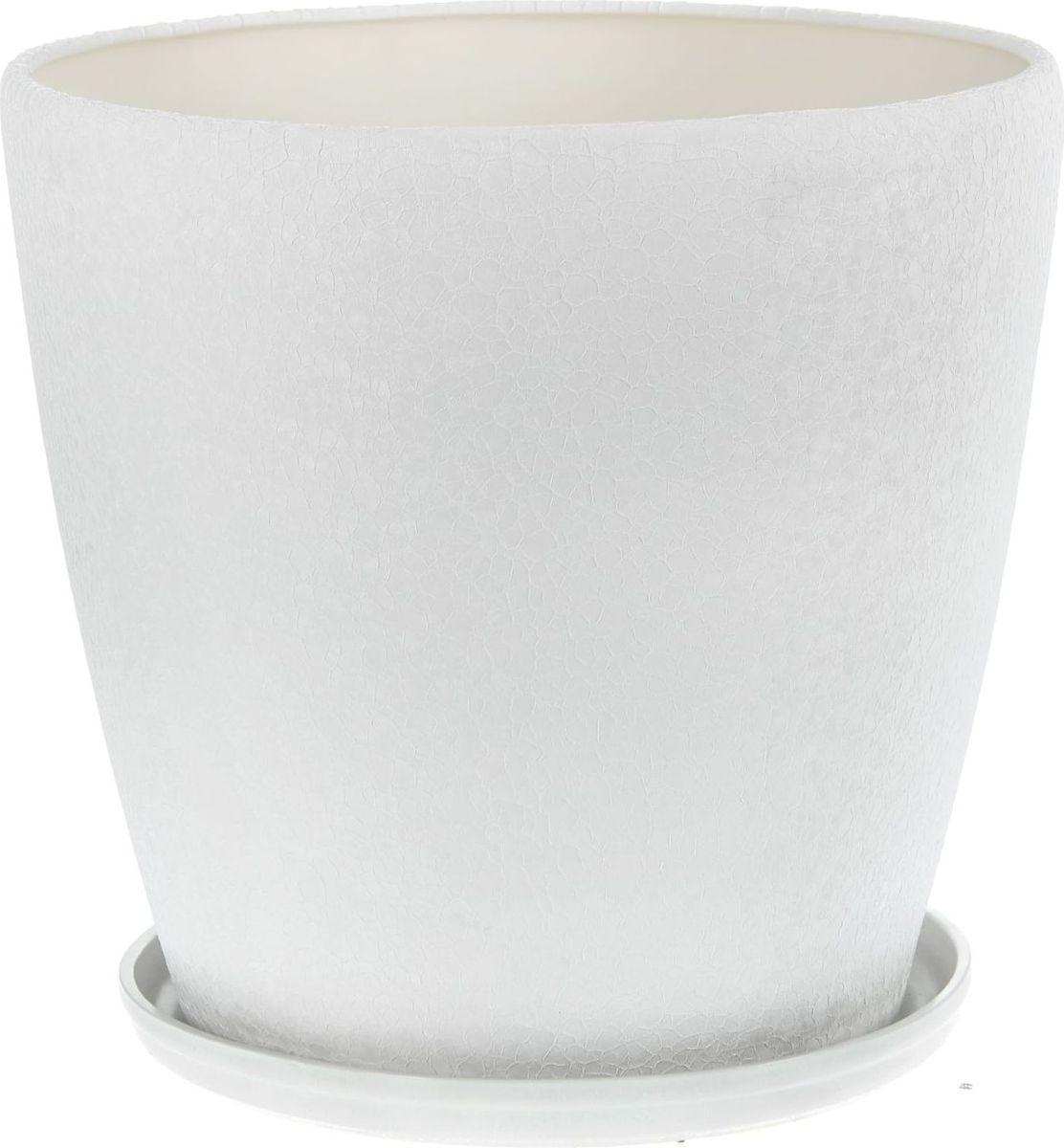 Кашпо Керамика ручной работы Грация, цвет: белый, 30 л1136887Комнатные растения - всеобщие любимцы. Они радуют глаз, насыщают помещение кислородом и украшают пространство. Каждому из них необходим свой удобный и красивый дом. Кашпо Грация из керамики прекрасно подходят для высадки растений: пористый материал позволяет испаряться лишней влаге, а воздух, необходимый для дыхания корней, проникает сквозь керамические стенки.Кашпо Грация позаботится о зеленом питомце, освежит интерьер и подчеркнет его стиль.
