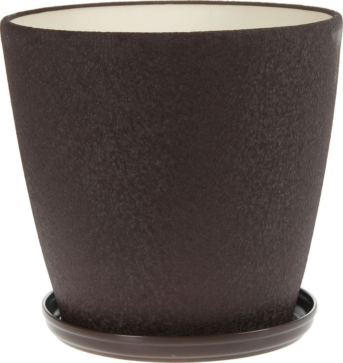 Кашпо Керамика ручной работы Грация, цвет: шоколадный, 30 л1136888Комнатные растения — всеобщие любимцы. Они радуют глаз, насыщают помещение кислородом и украшают пространство. Каждому из них необходим свой удобный и красивый дом. Кашпо из керамики прекрасно подходят для высадки растений: за счет пластичности глины и разных способов обработки существует великое множество форм и дизайнов пористый материал позволяет испаряться лишней влаге воздух, необходимый для дыхания корней, проникает сквозь керамические стенки! позаботится о зеленом питомце, освежит интерьер и подчеркнет его стиль.