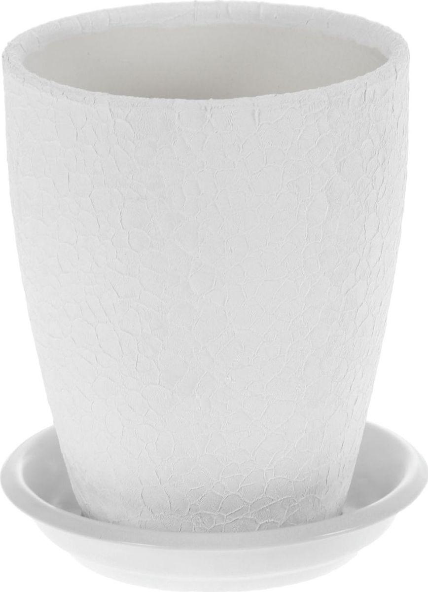 Кашпо Керамика ручной работы Мари, для орхидеи, цвет: белый, 1,3 л. 11368951136895Комнатные растения - всеобщие любимцы. Они радуют глаз, насыщают помещение кислородом и украшают пространство. Каждому из них необходим свой удобный и красивый дом.Кашпо из керамики прекрасно подходит для высадки растений:за счёт пластичности глины и разных способов обработки существует великое множество форм и дизайнов; пористый материал позволяет испаряться лишней влаге; воздух, необходимый для дыхания корней, проникает сквозь керамические стенки.Кашпо для цветов освежит интерьер и подчеркнёт его стиль.