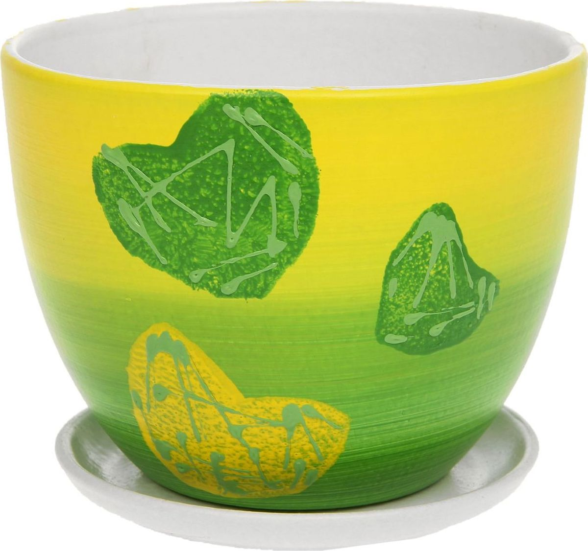 Кашпо Биколор, цвет: зеленый, 2 л1138527Комнатные растения — всеобщие любимцы. Они радуют глаз, насыщают помещение кислородом и украшают пространство. Каждому из них необходим свой удобный и красивый дом. Кашпо из керамики прекрасно подходят для высадки растений: за счёт пластичности глины и разных способов обработки существует великое множество форм и дизайновпористый материал позволяет испаряться лишней влагевоздух, необходимый для дыхания корней, проникает сквозь керамические стенки! #name# позаботится о зелёном питомце, освежит интерьер и подчеркнёт его стиль.