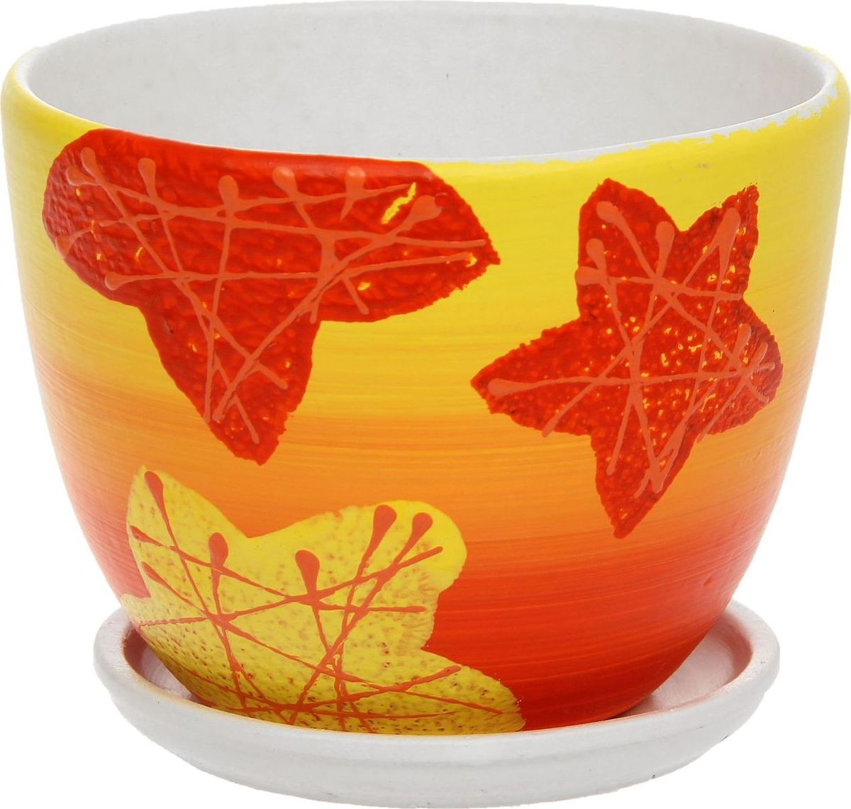 Кашпо Биколор, цвет: красный, 0,6 л1138528Комнатные растения — всеобщие любимцы. Они радуют глаз, насыщают помещение кислородом и украшают пространство. Каждому из них необходим свой удобный и красивый дом. Кашпо из керамики прекрасно подходят для высадки растений: за счёт пластичности глины и разных способов обработки существует великое множество форм и дизайновпористый материал позволяет испаряться лишней влагевоздух, необходимый для дыхания корней, проникает сквозь керамические стенки! #name# позаботится о зелёном питомце, освежит интерьер и подчеркнёт его стиль.