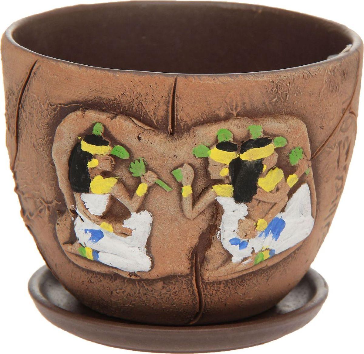 Кашпо Боги, 0,6 л1138534Комнатные растения — всеобщие любимцы. Они радуют глаз, насыщают помещение кислородом и украшают пространство. Каждому из них необходим свой удобный и красивый дом. Кашпо из керамики прекрасно подходят для высадки растений: за счёт пластичности глины и разных способов обработки существует великое множество форм и дизайновпористый материал позволяет испаряться лишней влагевоздух, необходимый для дыхания корней, проникает сквозь керамические стенки! #name# позаботится о зелёном питомце, освежит интерьер и подчеркнёт его стиль.