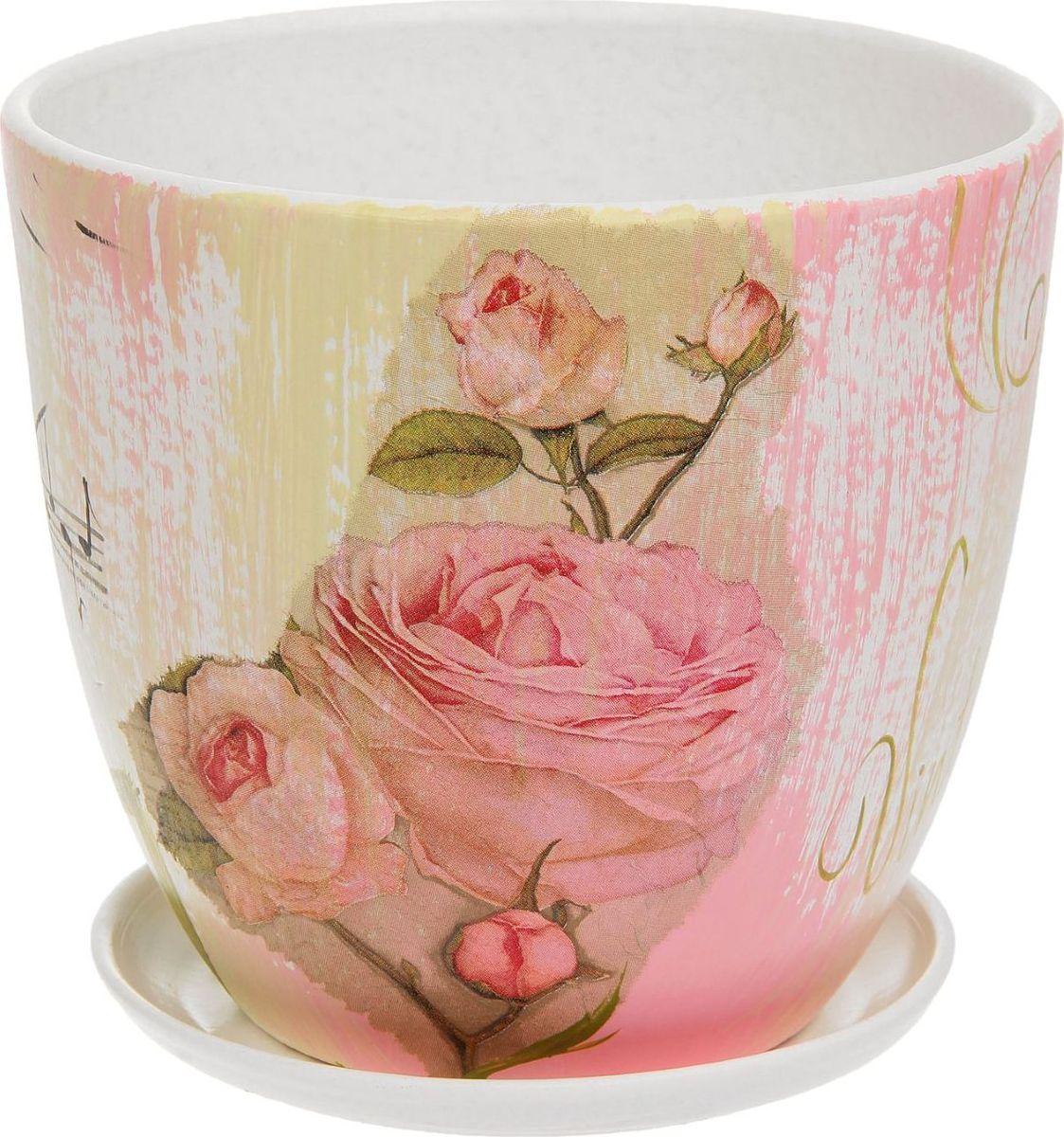 Кашпо Винтаж. Розы, 2,6 л1138555Комнатные растения — всеобщие любимцы. Они радуют глаз, насыщают помещение кислородом и украшают пространство. Каждому из них необходим свой удобный и красивый дом. Кашпо из керамики прекрасно подходят для высадки растений: за счет пластичности глины и разных способов обработки существует великое множество форм и дизайнов пористый материал позволяет испаряться лишней влаге воздух, необходимый для дыхания корней, проникает сквозь керамические стенки! позаботится о зеленом питомце, освежит интерьер и подчеркнет его стиль.