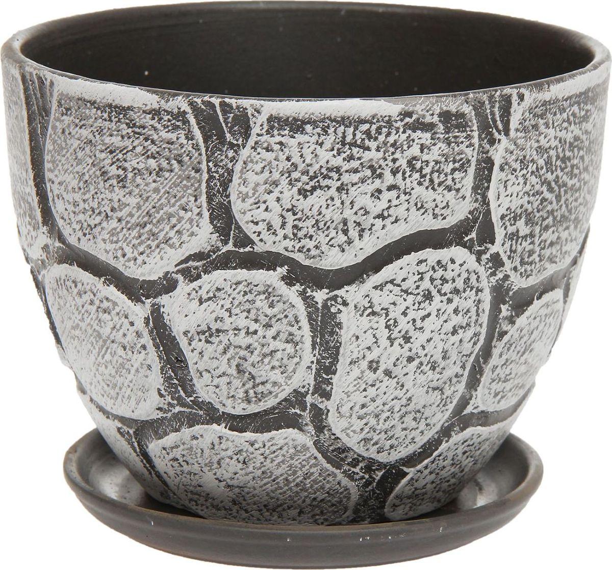 Кашпо Камушки, 1,1 л1138601Комнатные растения — всеобщие любимцы. Они радуют глаз, насыщают помещение кислородом и украшают пространство. Каждому из них необходим свой удобный и красивый дом. Кашпо из керамики прекрасно подходят для высадки растений: за счёт пластичности глины и разных способов обработки существует великое множество форм и дизайновпористый материал позволяет испаряться лишней влагевоздух, необходимый для дыхания корней, проникает сквозь керамические стенки! #name# позаботится о зелёном питомце, освежит интерьер и подчеркнёт его стиль.