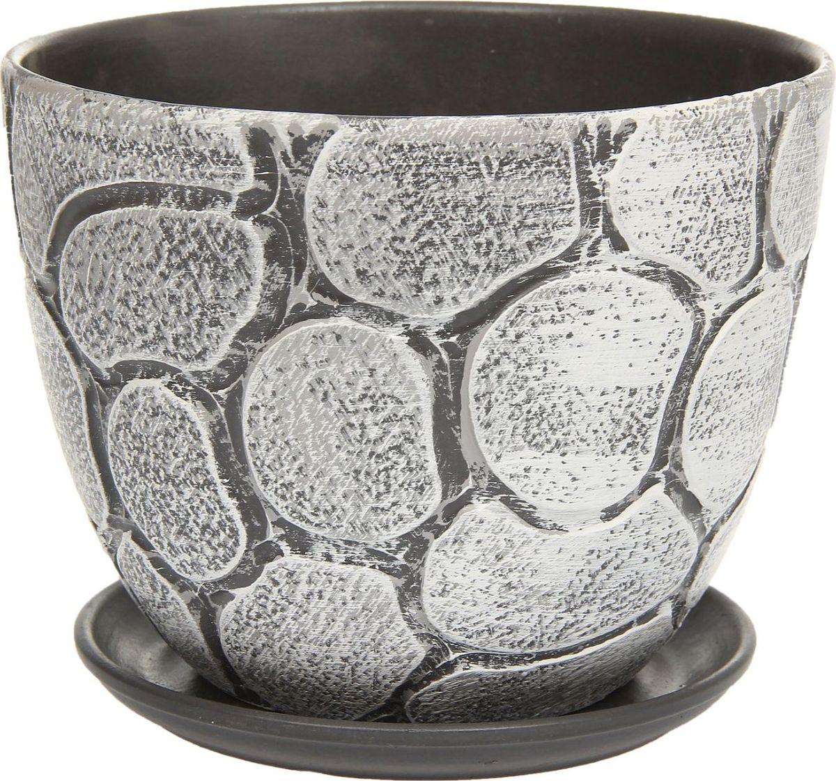 Кашпо Камушки, 3 л1138603Комнатные растения — всеобщие любимцы. Они радуют глаз, насыщают помещение кислородом и украшают пространство. Каждому из них необходим свой удобный и красивый дом. Кашпо из керамики прекрасно подходят для высадки растений: за счёт пластичности глины и разных способов обработки существует великое множество форм и дизайновпористый материал позволяет испаряться лишней влагевоздух, необходимый для дыхания корней, проникает сквозь керамические стенки! #name# позаботится о зелёном питомце, освежит интерьер и подчеркнёт его стиль.