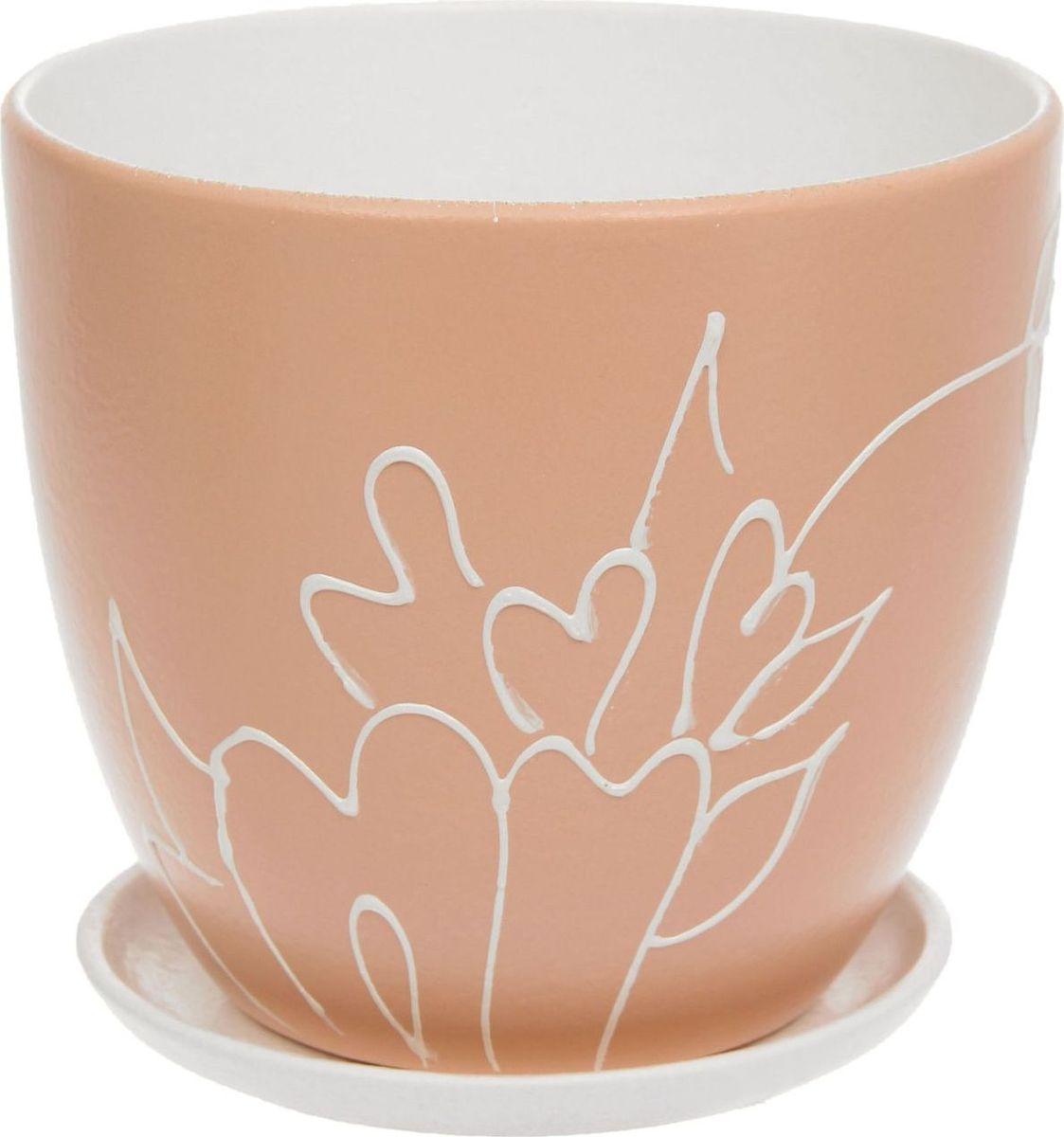 Кашпо Кураж, цвет: бежевый, 2,6 л1138615Комнатные растения — всеобщие любимцы. Они радуют глаз, насыщают помещение кислородом и украшают пространство. Каждому из них необходим свой удобный и красивый дом. Кашпо из керамики прекрасно подходят для высадки растений: за счет пластичности глины и разных способов обработки существует великое множество форм и дизайнов пористый материал позволяет испаряться лишней влаге воздух, необходимый для дыхания корней, проникает сквозь керамические стенки! позаботится о зеленом питомце, освежит интерьер и подчеркнет его стиль.