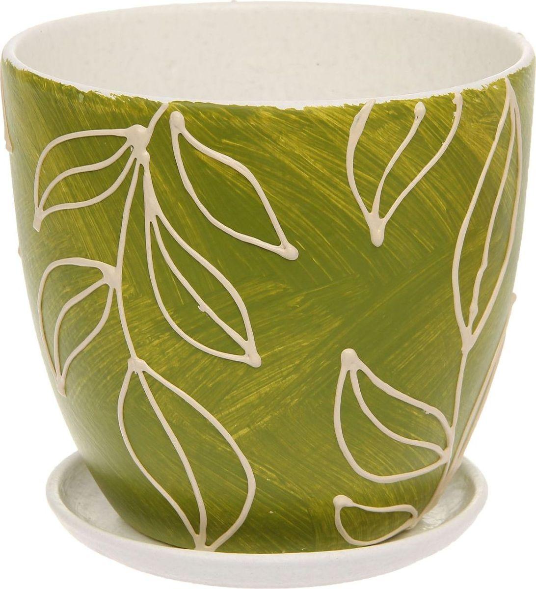 Кашпо Оливки, 2,6 л1138661Комнатные растения — всеобщие любимцы. Они радуют глаз, насыщают помещение кислородом и украшают пространство. Каждому из них необходим свой удобный и красивый дом. Кашпо из керамики прекрасно подходят для высадки растений: за счёт пластичности глины и разных способов обработки существует великое множество форм и дизайновпористый материал позволяет испаряться лишней влагевоздух, необходимый для дыхания корней, проникает сквозь керамические стенки! #name# позаботится о зелёном питомце, освежит интерьер и подчеркнёт его стиль.