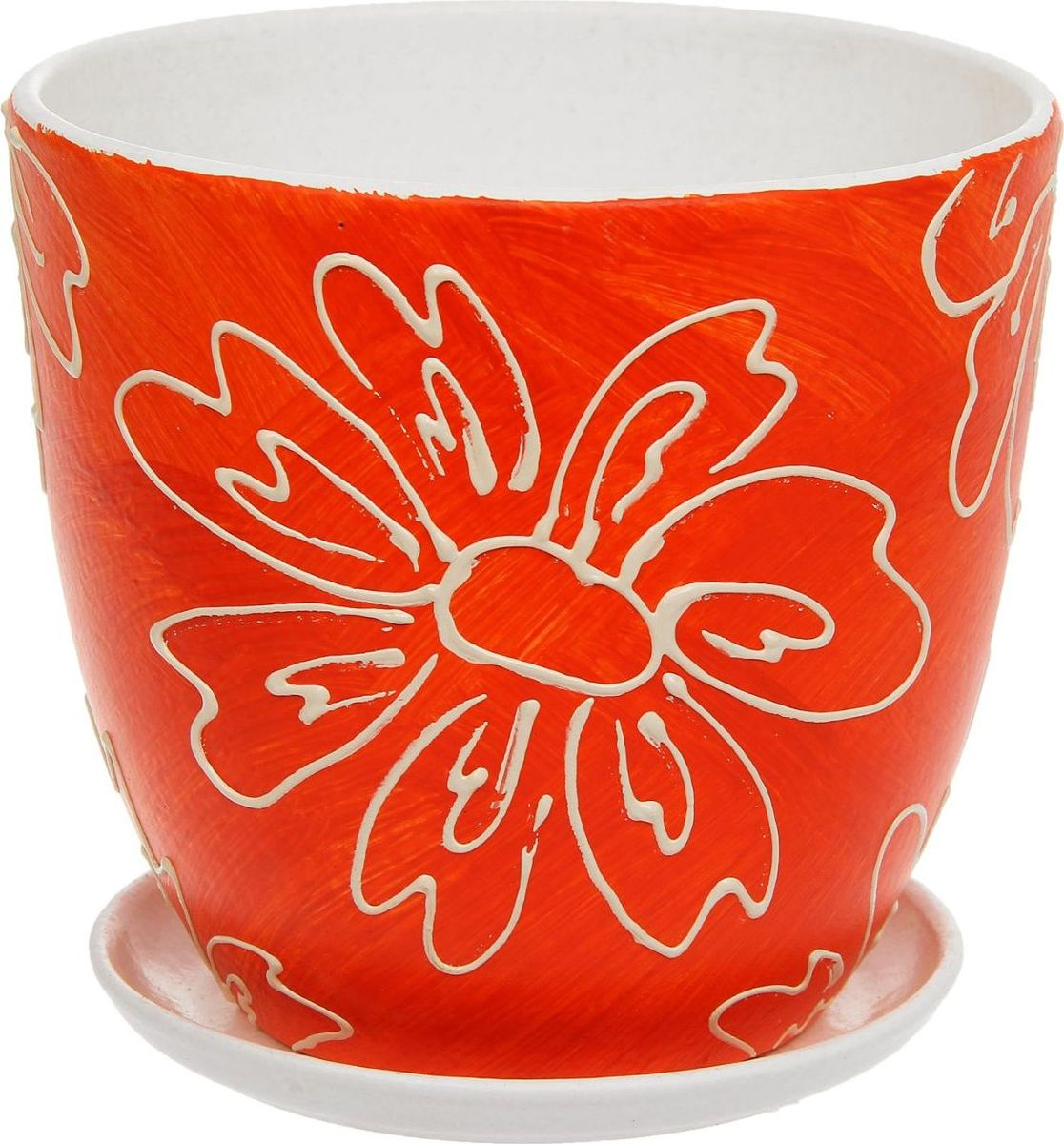 Кашпо Оранж, 2,6 л1138664Комнатные растения — всеобщие любимцы. Они радуют глаз, насыщают помещение кислородом и украшают пространство. Каждому из них необходим свой удобный и красивый дом. Кашпо из керамики прекрасно подходят для высадки растений: за счёт пластичности глины и разных способов обработки существует великое множество форм и дизайновпористый материал позволяет испаряться лишней влагевоздух, необходимый для дыхания корней, проникает сквозь керамические стенки! #name# позаботится о зелёном питомце, освежит интерьер и подчеркнёт его стиль.