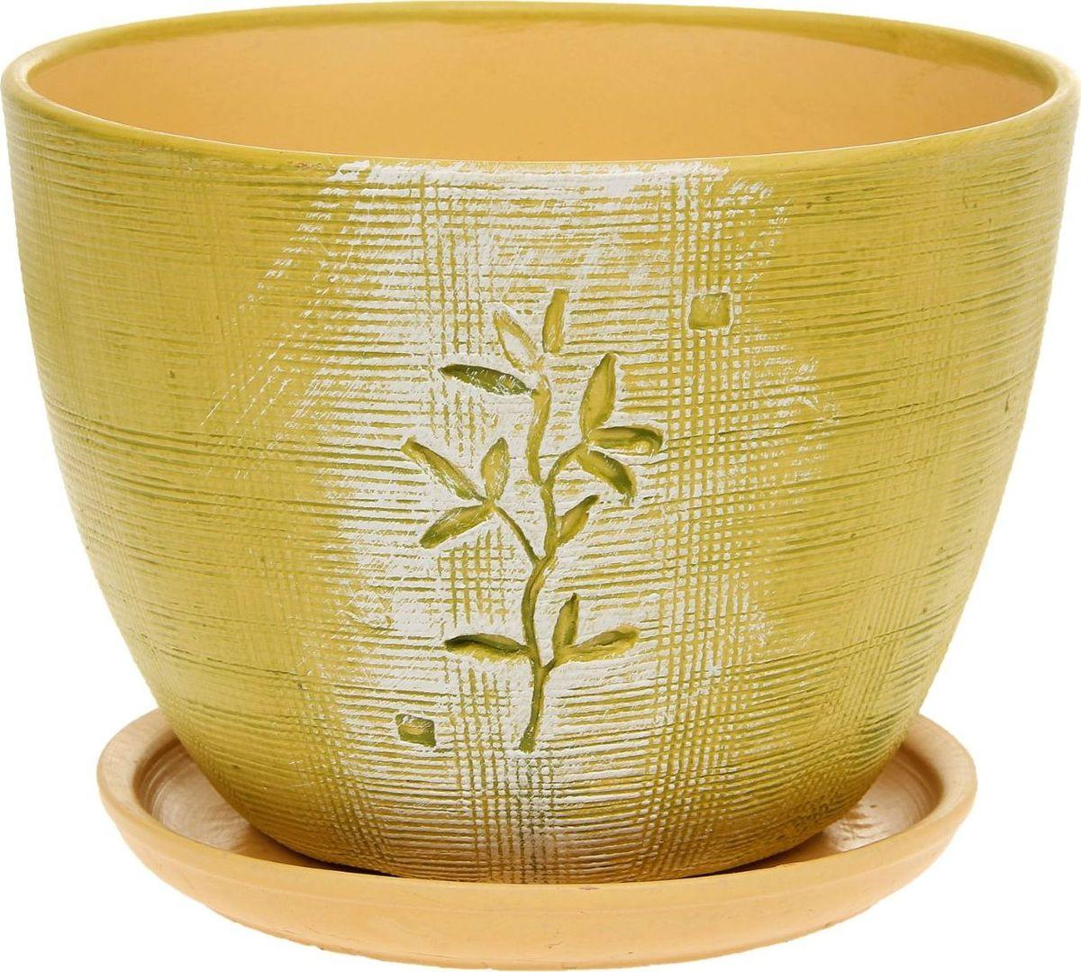 Кашпо Росток, 3 л1138692Комнатные растения — всеобщие любимцы. Они радуют глаз, насыщают помещение кислородом и украшают пространство. Каждому из них необходим свой удобный и красивый дом. Кашпо из керамики прекрасно подходят для высадки растений: за счёт пластичности глины и разных способов обработки существует великое множество форм и дизайновпористый материал позволяет испаряться лишней влагевоздух, необходимый для дыхания корней, проникает сквозь керамические стенки! #name# позаботится о зелёном питомце, освежит интерьер и подчеркнёт его стиль.