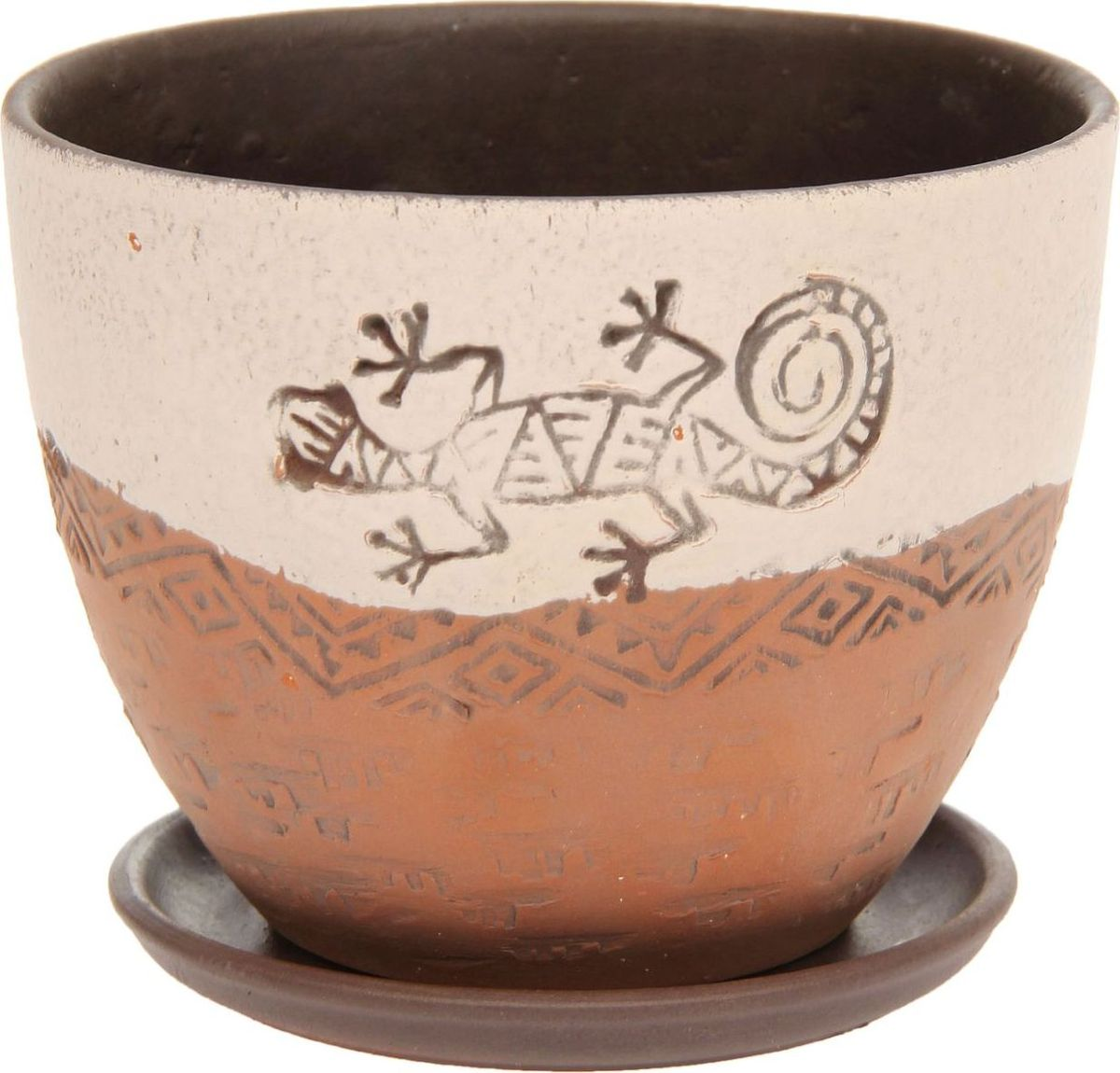 Кашпо Саламандра, 1,1 л1138694Комнатные растения — всеобщие любимцы. Они радуют глаз, насыщают помещение кислородом и украшают пространство. Каждому из них необходим свой удобный и красивый дом. Кашпо из керамики прекрасно подходят для высадки растений: за счёт пластичности глины и разных способов обработки существует великое множество форм и дизайновпористый материал позволяет испаряться лишней влагевоздух, необходимый для дыхания корней, проникает сквозь керамические стенки! #name# позаботится о зелёном питомце, освежит интерьер и подчеркнёт его стиль.