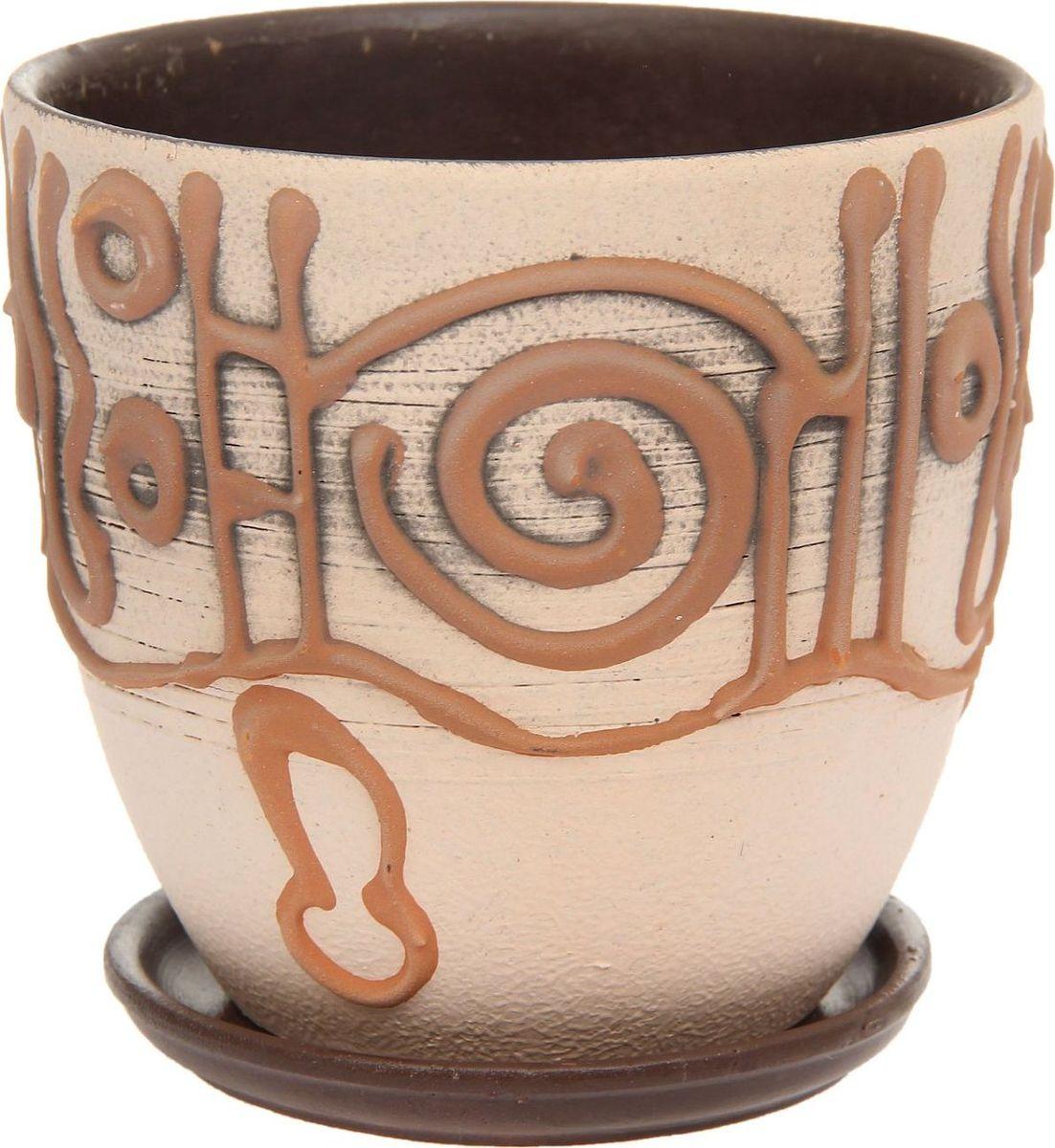 Кашпо Сирень, 0,8 л1138700Комнатные растения - всеобщие любимцы. Они радуют глаз, насыщают помещение кислородом и украшают пространство. Каждому из них необходим свой удобный и красивый дом. Кашпо из керамики прекрасно подходят для высадки растений: за счет пластичности глины и разных способов обработки существует великое множество форм и дизайнов пористый материал позволяет испаряться лишней влаге воздух, необходимый для дыхания корней, проникает сквозь керамические стенки! Позаботится о зеленом питомце, освежит интерьер и подчеркнет его стиль.
