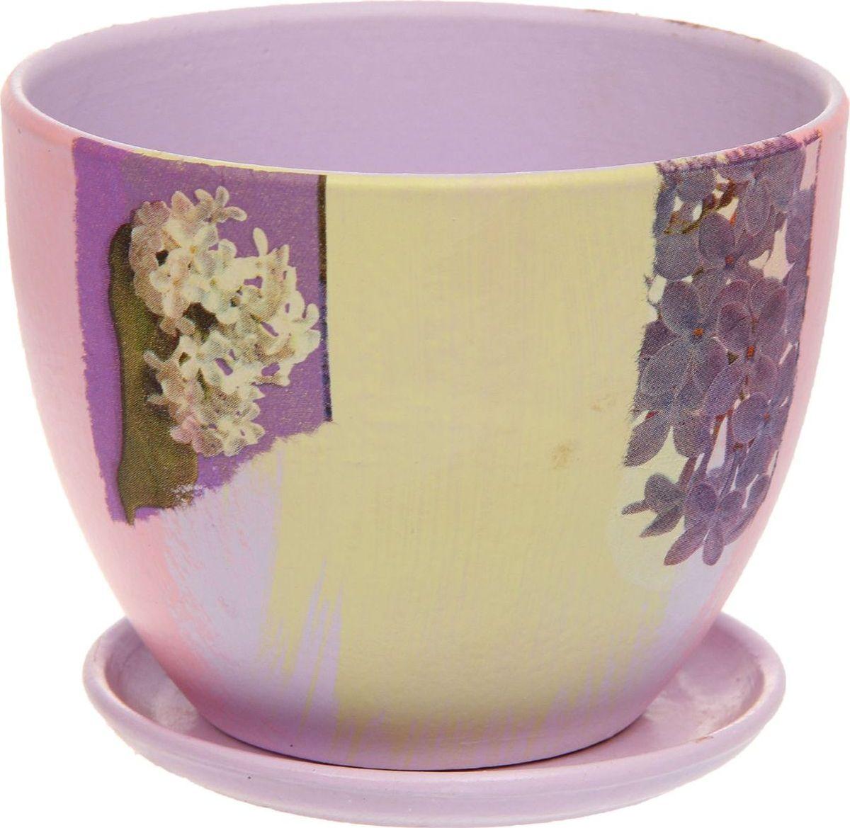 Кашпо Сирень, 1,1 л1138704Комнатные растения — всеобщие любимцы. Они радуют глаз, насыщают помещение кислородом и украшают пространство. Каждому из них необходим свой удобный и красивый дом. Кашпо из керамики прекрасно подходят для высадки растений: за счёт пластичности глины и разных способов обработки существует великое множество форм и дизайновпористый материал позволяет испаряться лишней влагевоздух, необходимый для дыхания корней, проникает сквозь керамические стенки! #name# позаботится о зелёном питомце, освежит интерьер и подчеркнёт его стиль.