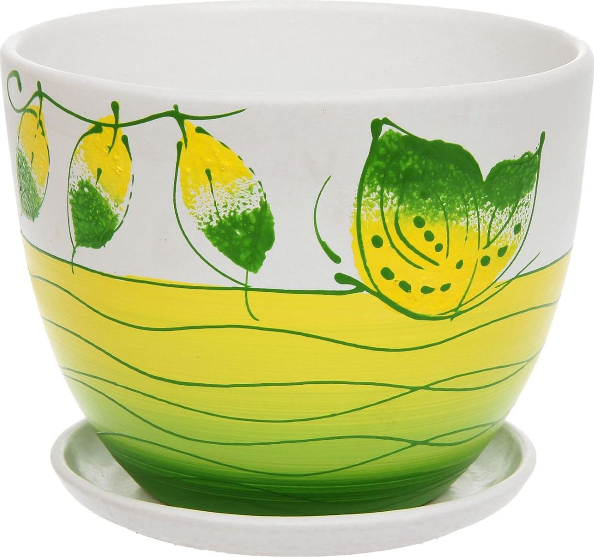 Кашпо Фантазия, цвет: зеленый, 2 л1138717Комнатные растения — всеобщие любимцы. Они радуют глаз, насыщают помещение кислородом и украшают пространство. Каждому из них необходим свой удобный и красивый дом. Кашпо из керамики прекрасно подходят для высадки растений: за счет пластичности глины и разных способов обработки существует великое множество форм и дизайнов пористый материал позволяет испаряться лишней влаге воздух, необходимый для дыхания корней, проникает сквозь керамические стенки! позаботится о зеленом питомце, освежит интерьер и подчеркнет его стиль.