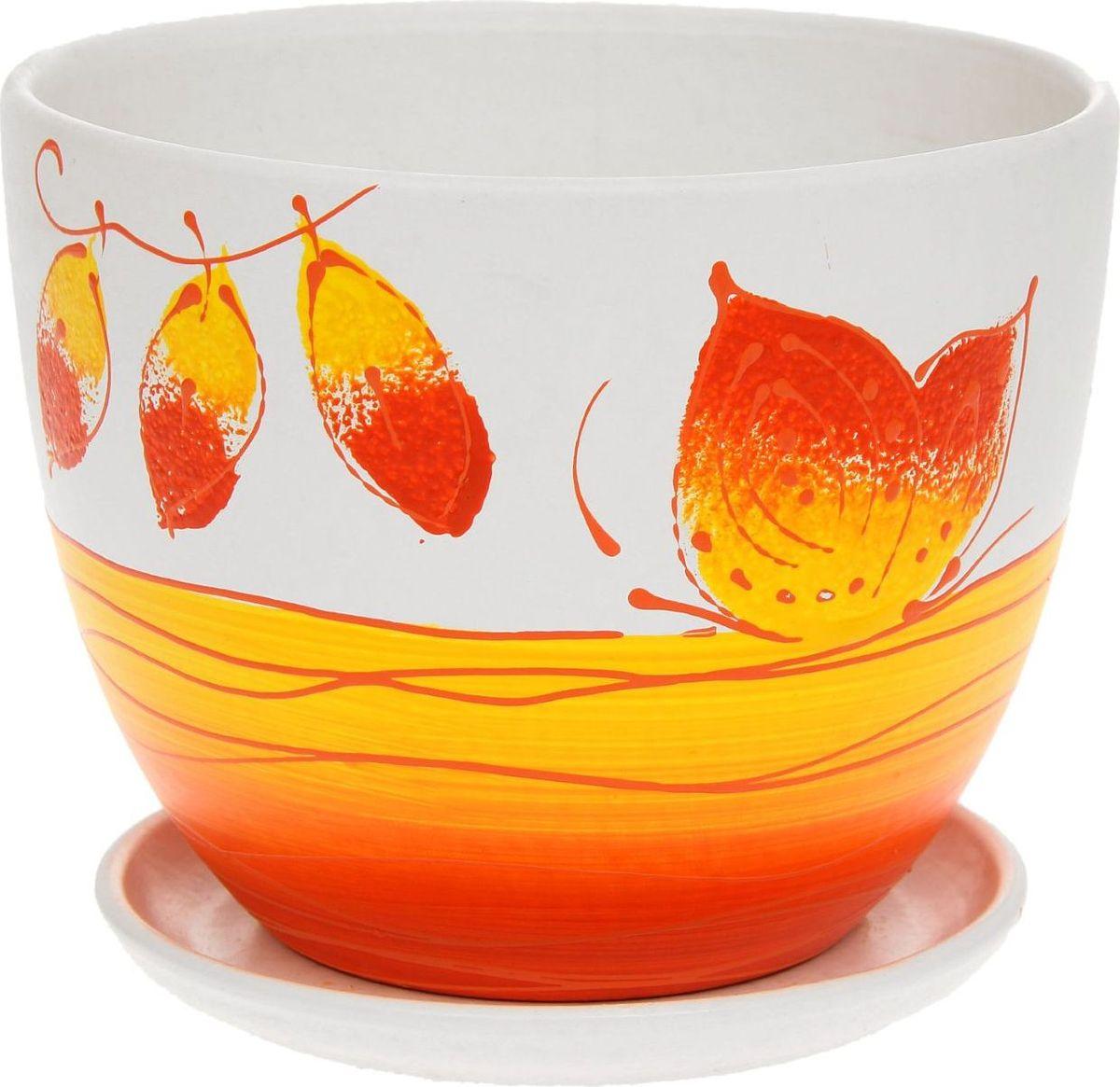 Кашпо Фантазия, цвет: красный, 2 л1138720Комнатные растения — всеобщие любимцы. Они радуют глаз, насыщают помещение кислородом и украшают пространство. Каждому из них необходим свой удобный и красивый дом. Кашпо из керамики прекрасно подходят для высадки растений: за счёт пластичности глины и разных способов обработки существует великое множество форм и дизайновпористый материал позволяет испаряться лишней влагевоздух, необходимый для дыхания корней, проникает сквозь керамические стенки! #name# позаботится о зелёном питомце, освежит интерьер и подчеркнёт его стиль.
