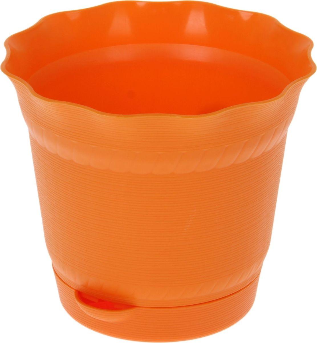 Горшок для цветов ТЕК.А.ТЕК Aquarelle, с поддоном, цвет: светло-оранжевый, 1 л1141566Любой, даже самый современный и продуманный интерьер будет не завершённым без растений. Они не только очищают воздух и насыщают его кислородом, но и заметно украшают окружающее пространство. Такому полезному &laquo члену семьи&raquoпросто необходимо красивое и функциональное кашпо, оригинальный горшок или необычная ваза! Мы предлагаем - Горшок для цветов с поддоном 1 л Aquarelle d=14 см, цвет светло-оранжевый!Оптимальный выбор материала &mdash &nbsp пластмасса! Почему мы так считаем? Малый вес. С лёгкостью переносите горшки и кашпо с места на место, ставьте их на столики или полки, подвешивайте под потолок, не беспокоясь о нагрузке. Простота ухода. Пластиковые изделия не нуждаются в специальных условиях хранения. Их&nbsp легко чистить &mdashдостаточно просто сполоснуть тёплой водой. Никаких царапин. Пластиковые кашпо не царапают и не загрязняют поверхности, на которых стоят. Пластик дольше хранит влагу, а значит &mdashрастение реже нуждается в поливе. Пластмасса не пропускает воздух &mdashкорневой системе растения не грозят резкие перепады температур. Огромный выбор форм, декора и расцветок &mdashвы без труда подберёте что-то, что идеально впишется в уже существующий интерьер.Соблюдая нехитрые правила ухода, вы можете заметно продлить срок службы горшков, вазонов и кашпо из пластика: всегда учитывайте размер кроны и корневой системы растения (при разрастании большое растение способно повредить маленький горшок)берегите изделие от воздействия прямых солнечных лучей, чтобы кашпо и горшки не выцветалидержите кашпо и горшки из пластика подальше от нагревающихся поверхностей.Создавайте прекрасные цветочные композиции, выращивайте рассаду или необычные растения, а низкие цены позволят вам не ограничивать себя в выборе.