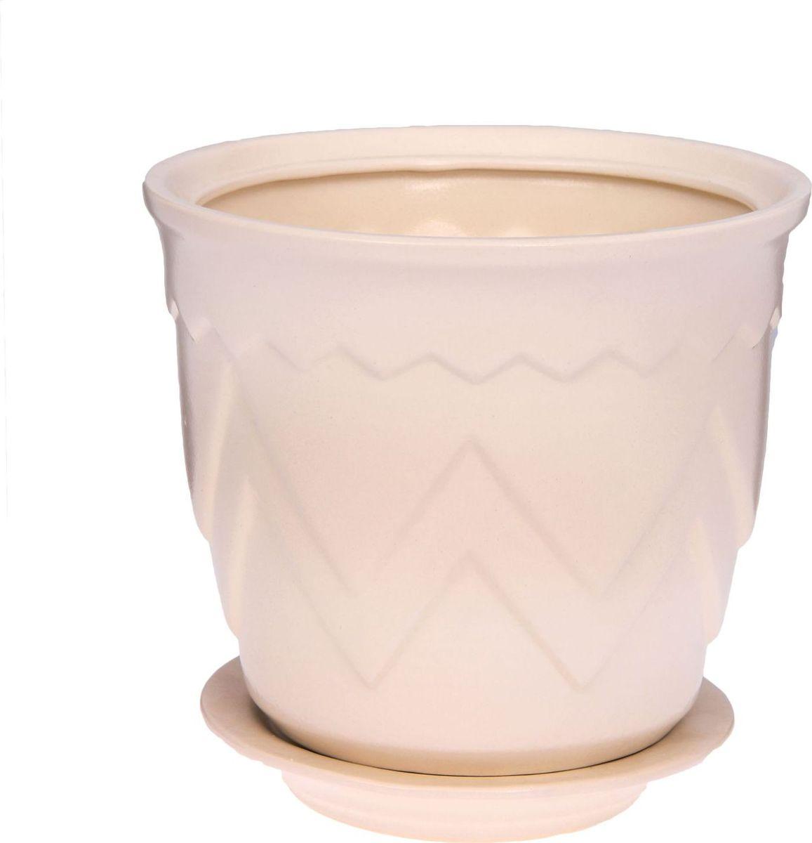 Кашпо Арго, цвет: белый, 2,8 л1143467Комнатные растения — всеобщие любимцы. Они радуют глаз, насыщают помещение кислородом и украшают пространство. Каждому из них необходим свой удобный и красивый дом. Кашпо из керамики прекрасно подходят для высадки растений: за счёт пластичности глины и разных способов обработки существует великое множество форм и дизайновпористый материал позволяет испаряться лишней влагевоздух, необходимый для дыхания корней, проникает сквозь керамические стенки! #name# позаботится о зелёном питомце, освежит интерьер и подчеркнёт его стиль.