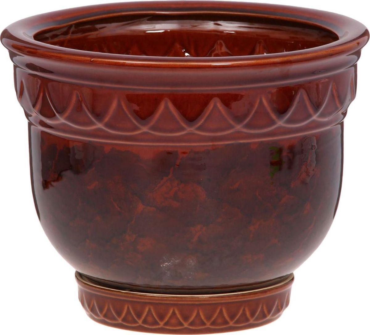 Кашпо Бриз, цвет: коричневый, 8,5 л1143938Комнатные растения - всеобщие любимцы. Они радуют глаз, насыщаютпомещение кислородом и украшают пространство. Каждому из них необходимсвой удобный и красивый дом.Кашпо из керамики прекрасно подходят для высадки растений. За счетпластичности глины и разных способов обработки существует великое множествоформ и дизайнов. Пористый материал позволяет испаряться лишней влаге, авоздух, необходимый для дыхания корней, проникает сквозь керамическиестенки.Кашпо позаботится о растениях, освежит интерьер и подчеркнет его стиль.