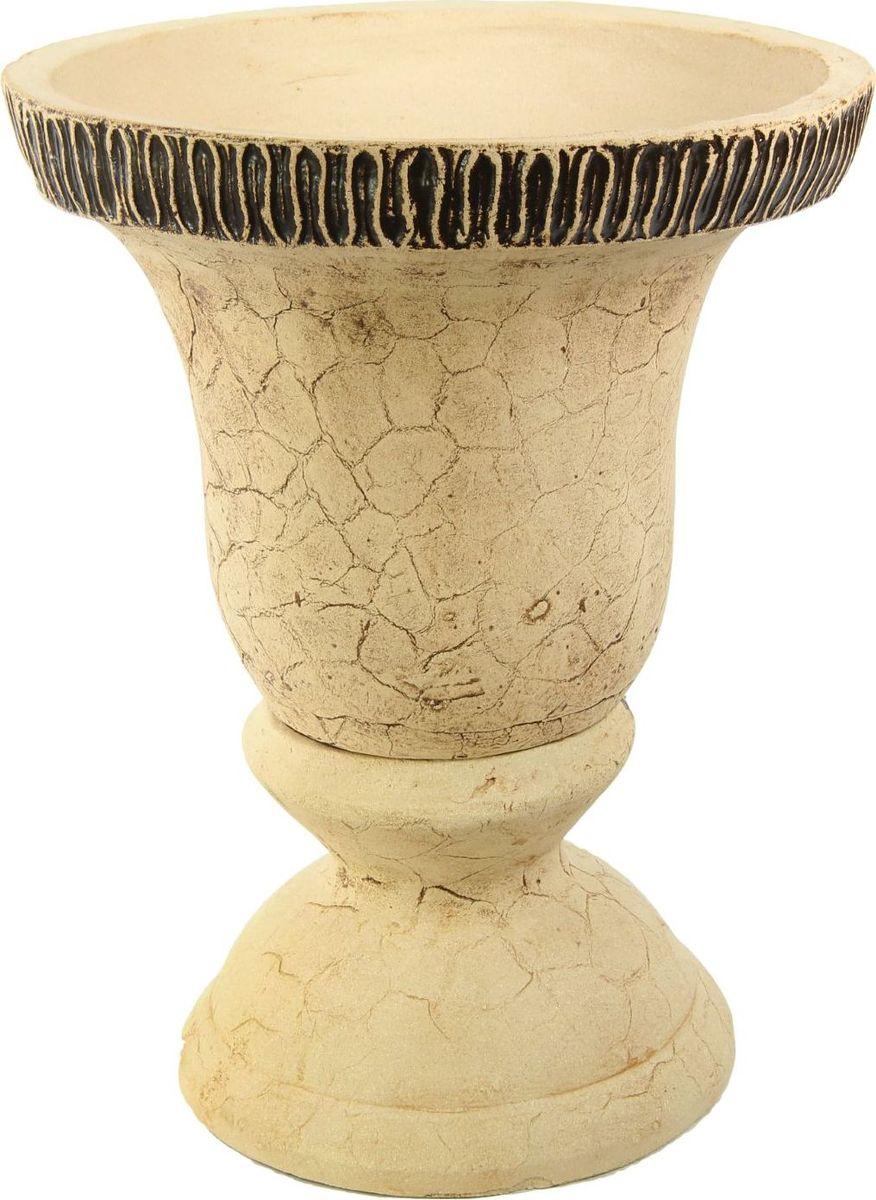Кашпо Керамика ручной работы Колокол, цвет: шамот, 65 л1144883 Кашпо Колокол шамот, 65 л — настоящая находка для садоводов. Это замечательное изделие, словно претерпевшее влияние времени, станет изысканной деталью вашего участка.Фигура выполнена исключительно из шамотной глины, которая делает её:абсолютно нетоксичнойустойчивой к воздействию окружающей среды (морозостойкой)устойчивой к изменению цвета и структуры (не шелушится и не облезает). При декорировании используются только качественные пигменты. Глина обжигается в два этапа: утилитный (900 °С) с последующим декорированием и политой (1100 °С). Такая технология придаёт изделию необходимую крепость.