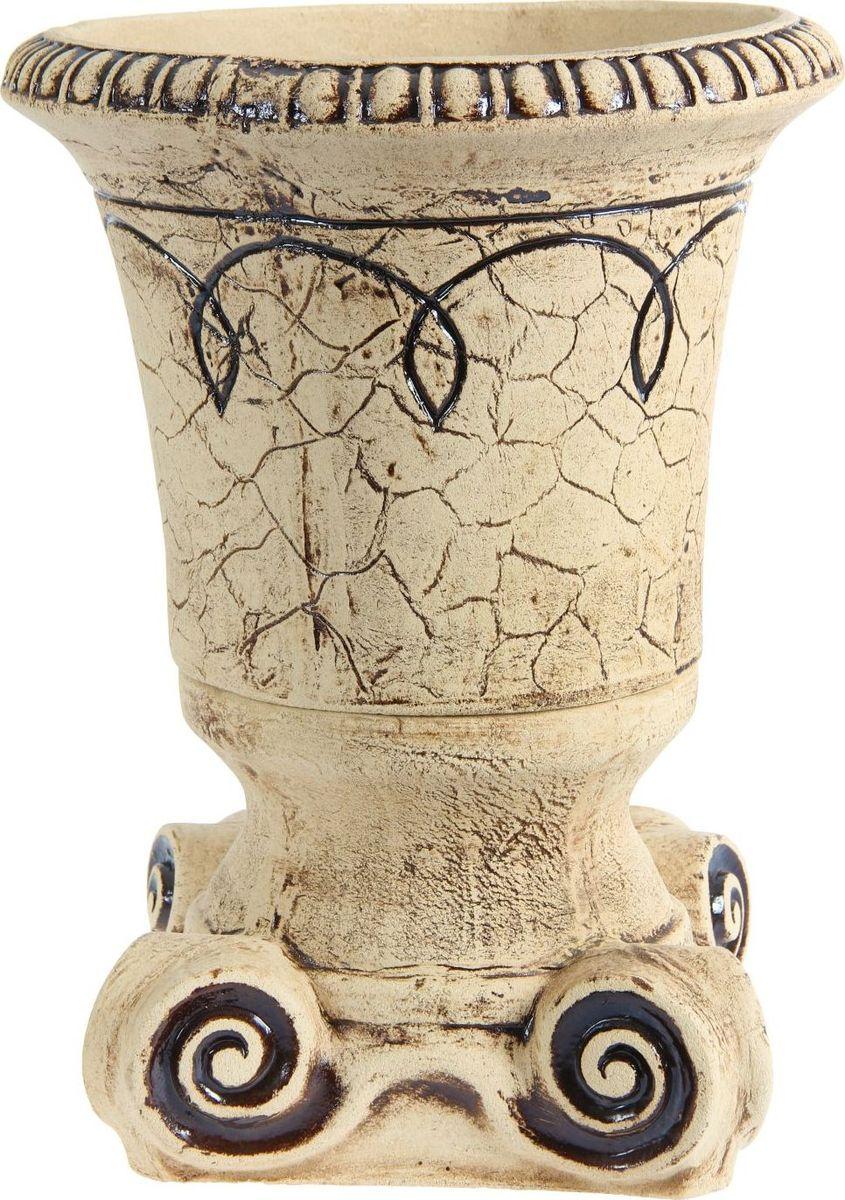 Кашпо Керамика ручной работы Театр, цвет: шамот, 25 л1144888 Кашпо Театр шамот, 25 л — настоящая находка для садоводов. Это замечательное изделие, словно претерпевшее влияние времени, станет изысканной деталью вашего участка.Фигура выполнена исключительно из шамотной глины, которая делает её:абсолютно нетоксичнойустойчивой к воздействию окружающей среды (морозостойкой)устойчивой к изменению цвета и структуры (не шелушится и не облезает). При декорировании используются только качественные пигменты. Глина обжигается в два этапа: утилитный (900 °С) с последующим декорированием и политой (1100 °С). Такая технология придаёт изделию необходимую крепость.