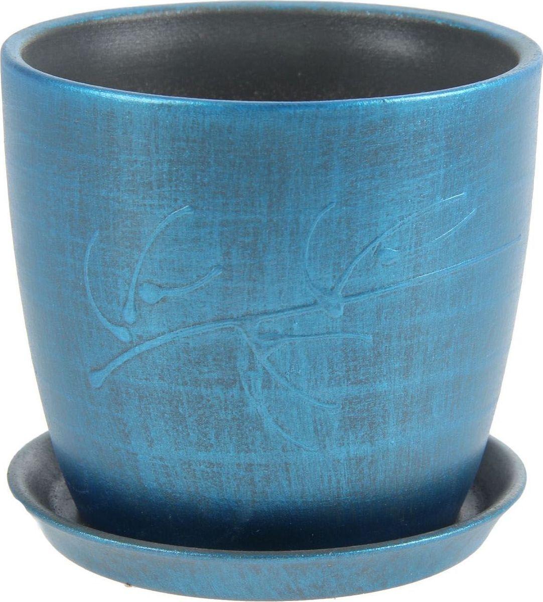 Кашпо Керамика ручной работы Осень. Патина, цвет: синий, 0,5 л1144921Комнатные растения — всеобщие любимцы. Они радуют глаз, насыщают помещение кислородом и украшают пространство. Каждому из них необходим свой удобный и красивый дом. Кашпо из керамики прекрасно подходят для высадки растений: за счёт пластичности глины и разных способов обработки существует великое множество форм и дизайновпористый материал позволяет испаряться лишней влагевоздух, необходимый для дыхания корней, проникает сквозь керамические стенки! #name# позаботится о зелёном питомце, освежит интерьер и подчеркнёт его стиль.