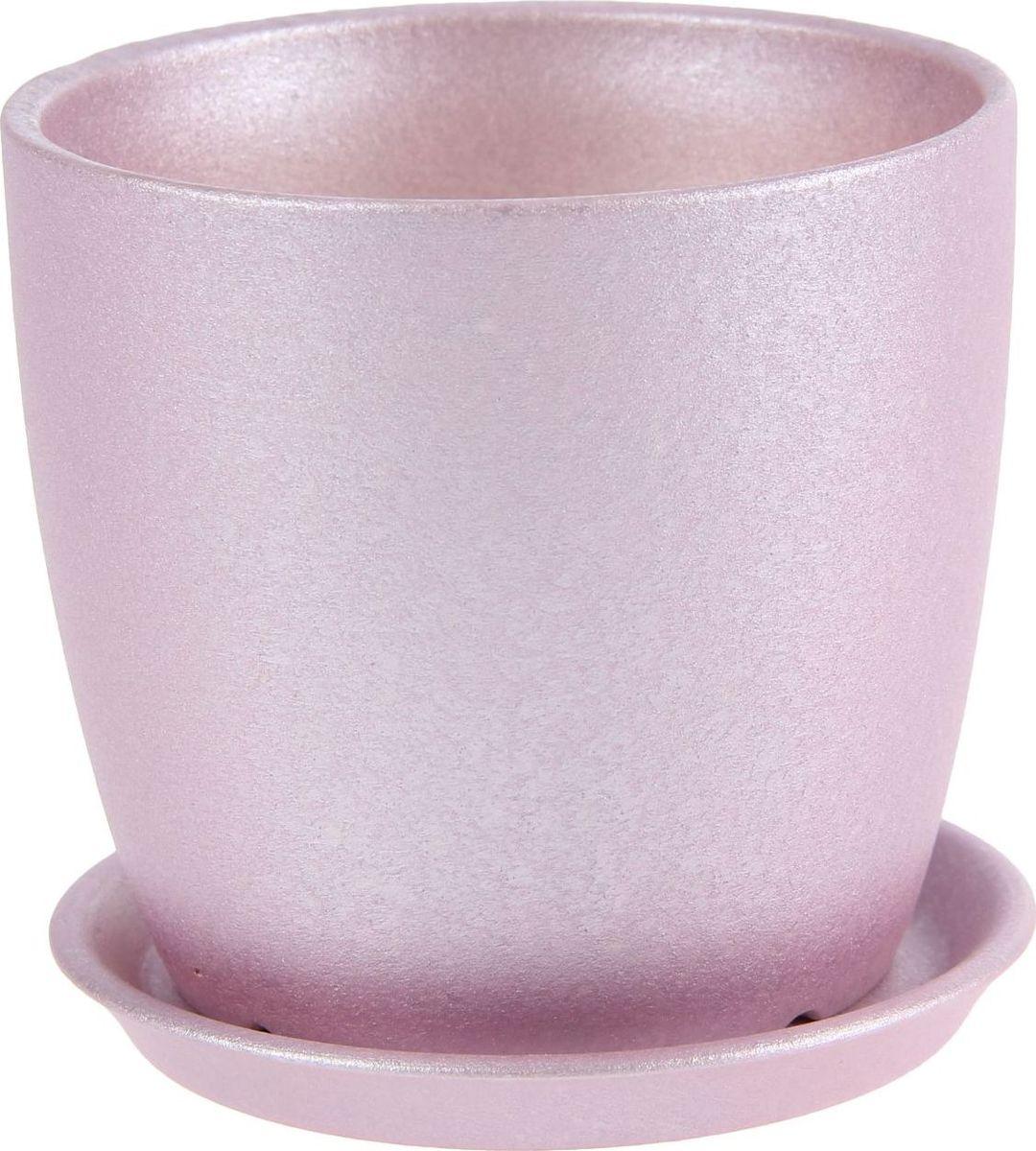 Кашпо Керамика ручной работы Осень. Перламутр, цвет: фиолетовый, 0,5 л1144922Комнатные растения — всеобщие любимцы. Они радуют глаз, насыщают помещение кислородом и украшают пространство. Каждому из них необходим свой удобный и красивый дом. Кашпо из керамики прекрасно подходят для высадки растений: за счёт пластичности глины и разных способов обработки существует великое множество форм и дизайновпористый материал позволяет испаряться лишней влагевоздух, необходимый для дыхания корней, проникает сквозь керамические стенки! #name# позаботится о зелёном питомце, освежит интерьер и подчеркнёт его стиль.