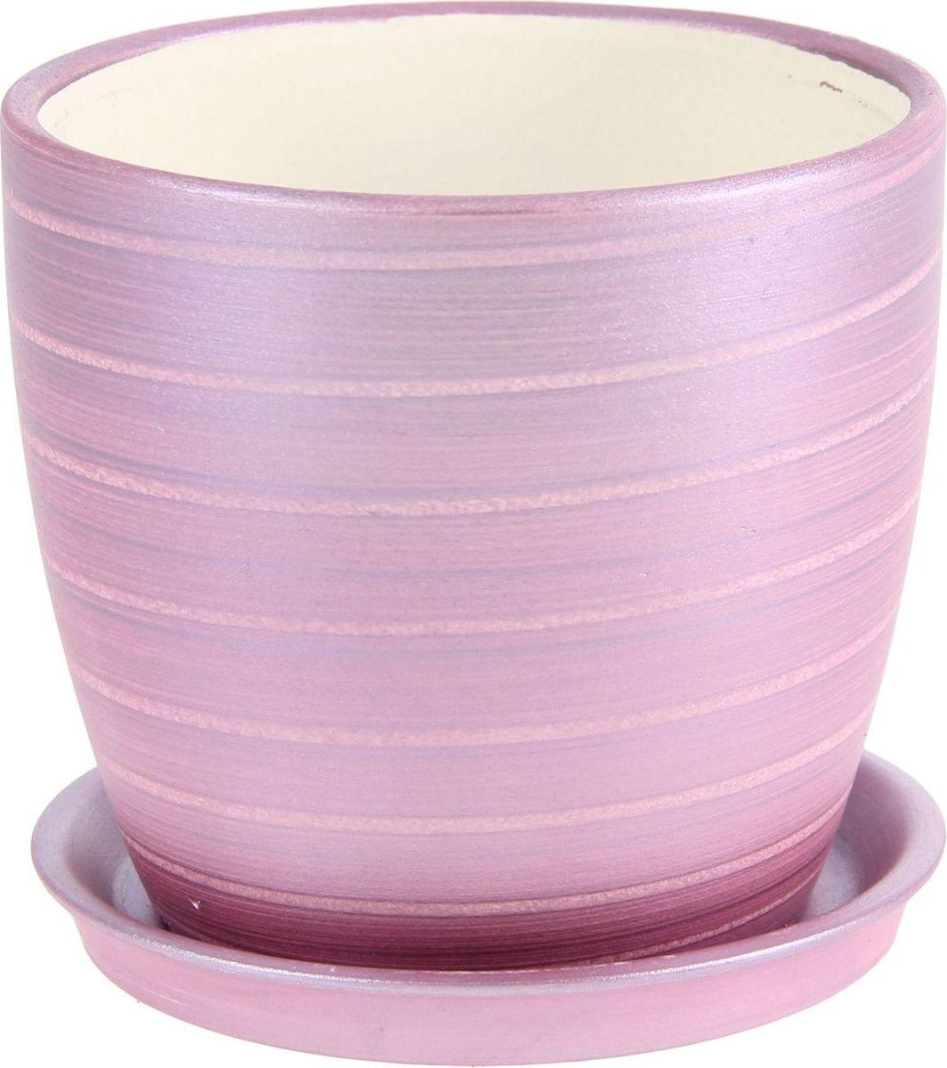 Кашпо Керамика ручной работы Осень. Радуга, цвет: фиолетовый, 1 л1144935Комнатные растения — всеобщие любимцы. Они радуют глаз, насыщают помещение кислородом и украшают пространство. Каждому из них необходим свой удобный и красивый дом. Кашпо из керамики прекрасно подходят для высадки растений: за счёт пластичности глины и разных способов обработки существует великое множество форм и дизайновпористый материал позволяет испаряться лишней влагевоздух, необходимый для дыхания корней, проникает сквозь керамические стенки! #name# позаботится о зелёном питомце, освежит интерьер и подчеркнёт его стиль.