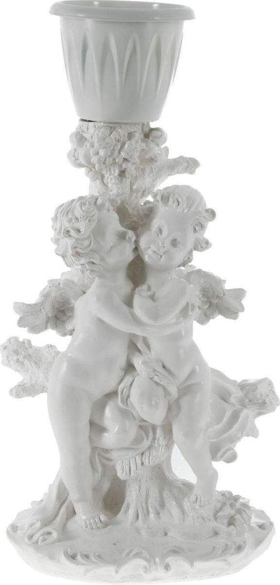 Кашпо Пара ангелов, цвет: белый, 25 х 33 х 23 см1145957