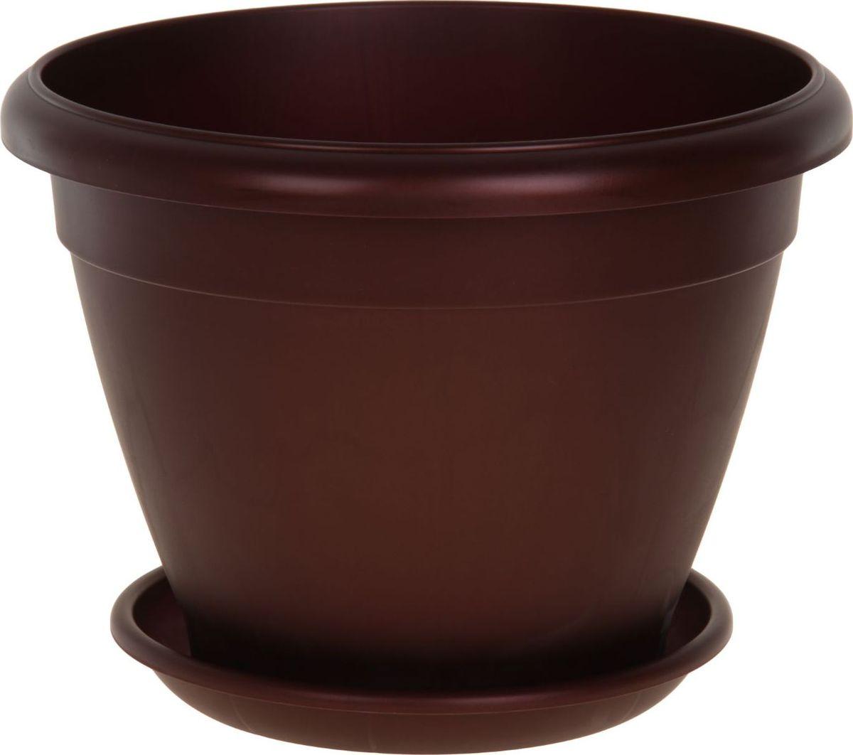 Горшок для цветов ТЕК.А.ТЕК Le Jardin, цвет: бордовый, бронзовый, 20 л1147187Любой, даже самый современный и продуманный интерьер будет не завершённым без растений. Они не только очищают воздух и насыщают его кислородом, но и заметно украшают окружающее пространство. Такому полезному члену семьи просто необходимо красивое и функциональное кашпо, оригинальный горшок или необычная ваза! Мы предлагаем - Горшок для цветов Le Jardin, d=45 см, цвет бордовый бронзовый! Оптимальный выбор материала пластмасса! Почему мы так считаем? Малый вес. С лёгкостью переносите горшки и кашпо с места на место, ставьте их на столики или полки, подвешивайте под потолок, не беспокоясь о нагрузке. Простота ухода. Пластиковые изделия не нуждаются в специальных условиях хранения. Их легко чистить достаточно просто сполоснуть тёплой водой. Никаких царапин. Пластиковые кашпо не царапают и не загрязняют поверхности, на которых стоят. Пластик дольше хранит влагу, а значит растение реже нуждается в поливе. Пластмасса не пропускает воздух корневой системе растения не грозят резкие перепады температур. Огромный выбор форм, декора и расцветок вы без труда подберёте что-то, что идеально впишется в уже существующий интерьер. Соблюдая нехитрые правила ухода, вы можете заметно продлить срок службы горшков, вазонов и кашпо из пластика: всегда учитывайте размер кроны и корневой системы растения (при разрастании большое растение способно повредить маленький горшок)берегите изделие от воздействия прямых солнечных лучей, чтобы кашпо и горшки не выцветалидержите кашпо и горшки из пластика подальше от нагревающихся поверхностей. Создавайте прекрасные цветочные композиции, выращивайте рассаду или необычные растения, а низкие цены позволят вам не ограничивать себя в выборе.