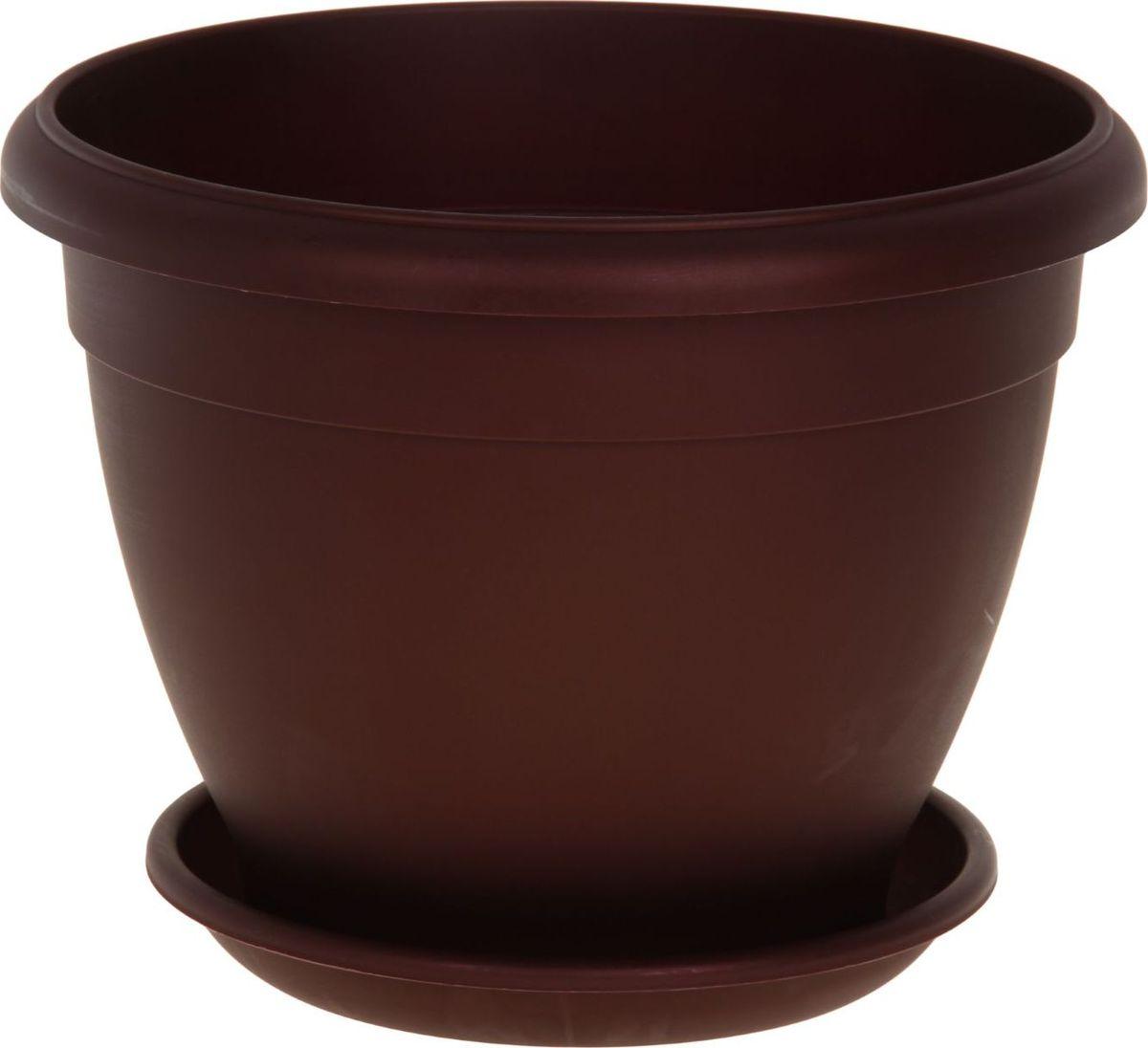 Горшок для цветов ТЕК.А.ТЕК Le Jardin, цвет: бронзовый, бордовый, 18 л1147191Любой, даже самый современный и продуманный интерьер будет не завершённым без растений. Они не только очищают воздух и насыщают его кислородом, но и заметно украшают окружающее пространство. Такому полезному &laquo члену семьи&raquoпросто необходимо красивое и функциональное кашпо, оригинальный горшок или необычная ваза! Мы предлагаем - Горшок для цветов Le Jardin, d=35 см, цвет бронзовый бордовый!Оптимальный выбор материала &mdash &nbsp пластмасса! Почему мы так считаем? Малый вес. С лёгкостью переносите горшки и кашпо с места на место, ставьте их на столики или полки, подвешивайте под потолок, не беспокоясь о нагрузке. Простота ухода. Пластиковые изделия не нуждаются в специальных условиях хранения. Их&nbsp легко чистить &mdashдостаточно просто сполоснуть тёплой водой. Никаких царапин. Пластиковые кашпо не царапают и не загрязняют поверхности, на которых стоят. Пластик дольше хранит влагу, а значит &mdashрастение реже нуждается в поливе. Пластмасса не пропускает воздух &mdashкорневой системе растения не грозят резкие перепады температур. Огромный выбор форм, декора и расцветок &mdashвы без труда подберёте что-то, что идеально впишется в уже существующий интерьер.Соблюдая нехитрые правила ухода, вы можете заметно продлить срок службы горшков, вазонов и кашпо из пластика: всегда учитывайте размер кроны и корневой системы растения (при разрастании большое растение способно повредить маленький горшок)берегите изделие от воздействия прямых солнечных лучей, чтобы кашпо и горшки не выцветалидержите кашпо и горшки из пластика подальше от нагревающихся поверхностей.Создавайте прекрасные цветочные композиции, выращивайте рассаду или необычные растения, а низкие цены позволят вам не ограничивать себя в выборе.