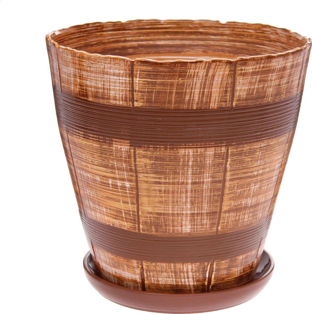 Кашпо Мари, цвет: коричневый, 8,8 л1147363Комнатные растения — всеобщие любимцы. Они радуют глаз, насыщают помещение кислородом и украшают пространство. Каждому из них необходим свой удобный и красивый дом. Кашпо из керамики прекрасно подходят для высадки растений: за счёт пластичности глины и разных способов обработки существует великое множество форм и дизайновпористый материал позволяет испаряться лишней влагевоздух, необходимый для дыхания корней, проникает сквозь керамические стенки! #name# позаботится о зелёном питомце, освежит интерьер и подчеркнёт его стиль.