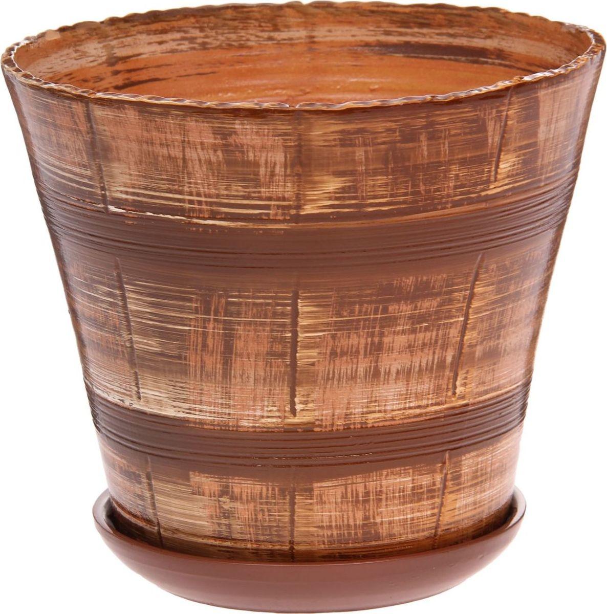 Кашпо Мари. Полосы, цвет: коричневый, 3,6 л1147365Комнатные растения — всеобщие любимцы. Они радуют глаз, насыщают помещение кислородом и украшают пространство. Каждому из них необходим свой удобный и красивый дом. Кашпо из керамики прекрасно подходят для высадки растений: за счёт пластичности глины и разных способов обработки существует великое множество форм и дизайновпористый материал позволяет испаряться лишней влагевоздух, необходимый для дыхания корней, проникает сквозь керамические стенки! #name# позаботится о зелёном питомце, освежит интерьер и подчеркнёт его стиль.