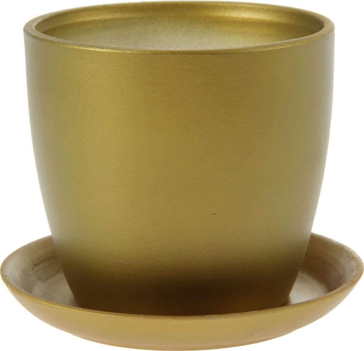 Кашпо Керамика ручной работы Осень, цвет: оливковый, 1 л1149223Комнатные растения - всеобщие любимцы. Они радуют глаз, насыщают помещение кислородом и украшают пространство. Каждому из них необходим свой удобный и красивый дом. Кашпо из керамики прекрасно подходят для высадки растений:пористый материал позволяет испаряться лишней влаге;воздух, необходимый для дыхания корней, проникает сквозь керамические стенки. Кашпо Осень позаботится о зеленом питомце, освежит интерьер и подчеркнет его стиль.