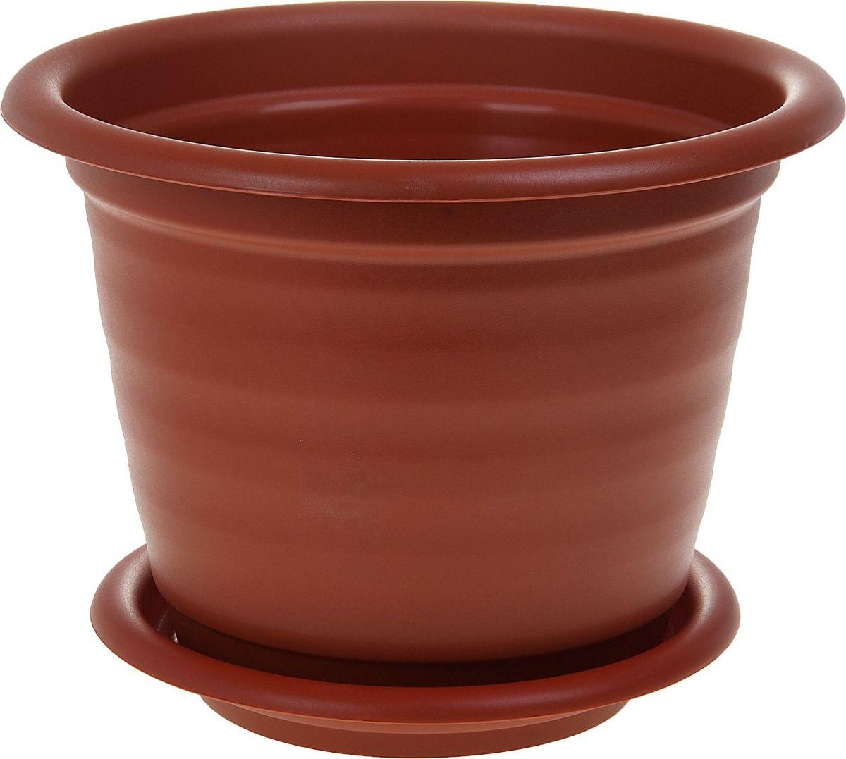 Кашпо Idea Ламела, с подставкой, цвет: терракотовый, 15 л1155787Любой, даже самый современный и продуманный интерьер будет не завершённым без растений. Они не только очищают воздух и насыщают его кислородом, но и заметно украшают окружающее пространство. Такому полезному &laquo члену семьи&raquoпросто необходимо красивое и функциональное кашпо, оригинальный горшок или необычная ваза! Мы предлагаем - Кашпо 15 л Ламела d=37 см, с подставкой, цвет терракотовый!Оптимальный выбор материала &mdash &nbsp пластмасса! Почему мы так считаем? Малый вес. С лёгкостью переносите горшки и кашпо с места на место, ставьте их на столики или полки, подвешивайте под потолок, не беспокоясь о нагрузке. Простота ухода. Пластиковые изделия не нуждаются в специальных условиях хранения. Их&nbsp легко чистить &mdashдостаточно просто сполоснуть тёплой водой. Никаких царапин. Пластиковые кашпо не царапают и не загрязняют поверхности, на которых стоят. Пластик дольше хранит влагу, а значит &mdashрастение реже нуждается в поливе. Пластмасса не пропускает воздух &mdashкорневой системе растения не грозят резкие перепады температур. Огромный выбор форм, декора и расцветок &mdashвы без труда подберёте что-то, что идеально впишется в уже существующий интерьер.Соблюдая нехитрые правила ухода, вы можете заметно продлить срок службы горшков, вазонов и кашпо из пластика: всегда учитывайте размер кроны и корневой системы растения (при разрастании большое растение способно повредить маленький горшок)берегите изделие от воздействия прямых солнечных лучей, чтобы кашпо и горшки не выцветалидержите кашпо и горшки из пластика подальше от нагревающихся поверхностей.Создавайте прекрасные цветочные композиции, выращивайте рассаду или необычные растения, а низкие цены позволят вам не ограничивать себя в выборе.