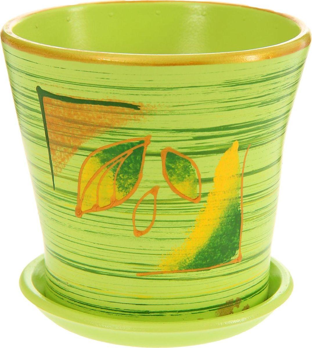 Кашпо Осенние листья, 0,5 л1157298Комнатные растения — всеобщие любимцы. Они радуют глаз, насыщают помещение кислородом и украшают пространство. Каждому из них необходим свой удобный и красивый дом. Кашпо из керамики прекрасно подходят для высадки растений: за счет пластичности глины и разных способов обработки существует великое множество форм и дизайнов пористый материал позволяет испаряться лишней влаге воздух, необходимый для дыхания корней, проникает сквозь керамические стенки! позаботится о зеленом питомце, освежит интерьер и подчеркнет его стиль.