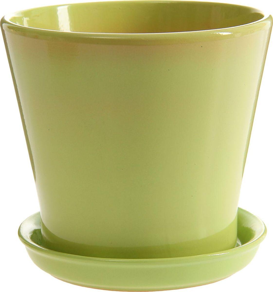 Кашпо Этюд, цвет: зеленый, 1,8 л1157342Комнатные растения — всеобщие любимцы. Они радуют глаз, насыщают помещение кислородом и украшают пространство. Каждому из них необходим свой удобный и красивый дом. Кашпо из керамики прекрасно подходят для высадки растений: за счёт пластичности глины и разных способов обработки существует великое множество форм и дизайновпористый материал позволяет испаряться лишней влагевоздух, необходимый для дыхания корней, проникает сквозь керамические стенки! #name# позаботится о зелёном питомце, освежит интерьер и подчеркнёт его стиль.