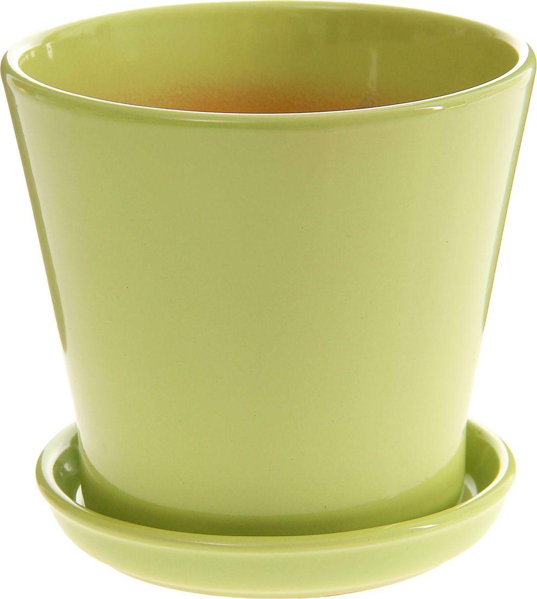 Кашпо Этюд, цвет: салатовый, 1,8 л1157389