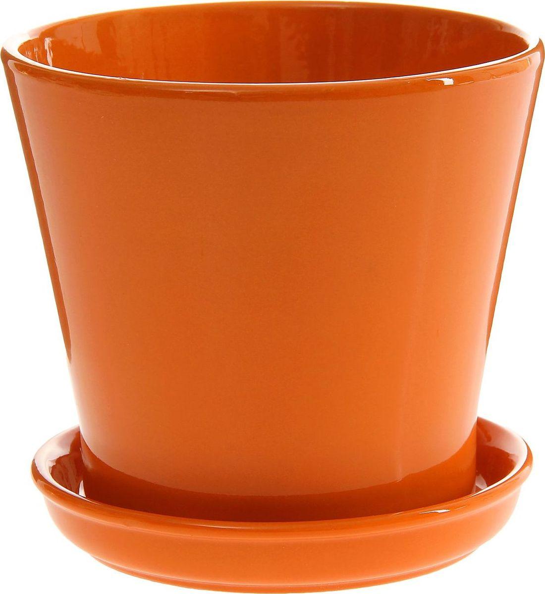 Кашпо Этюд, цвет: оранжевый, 1,8 л1157390
