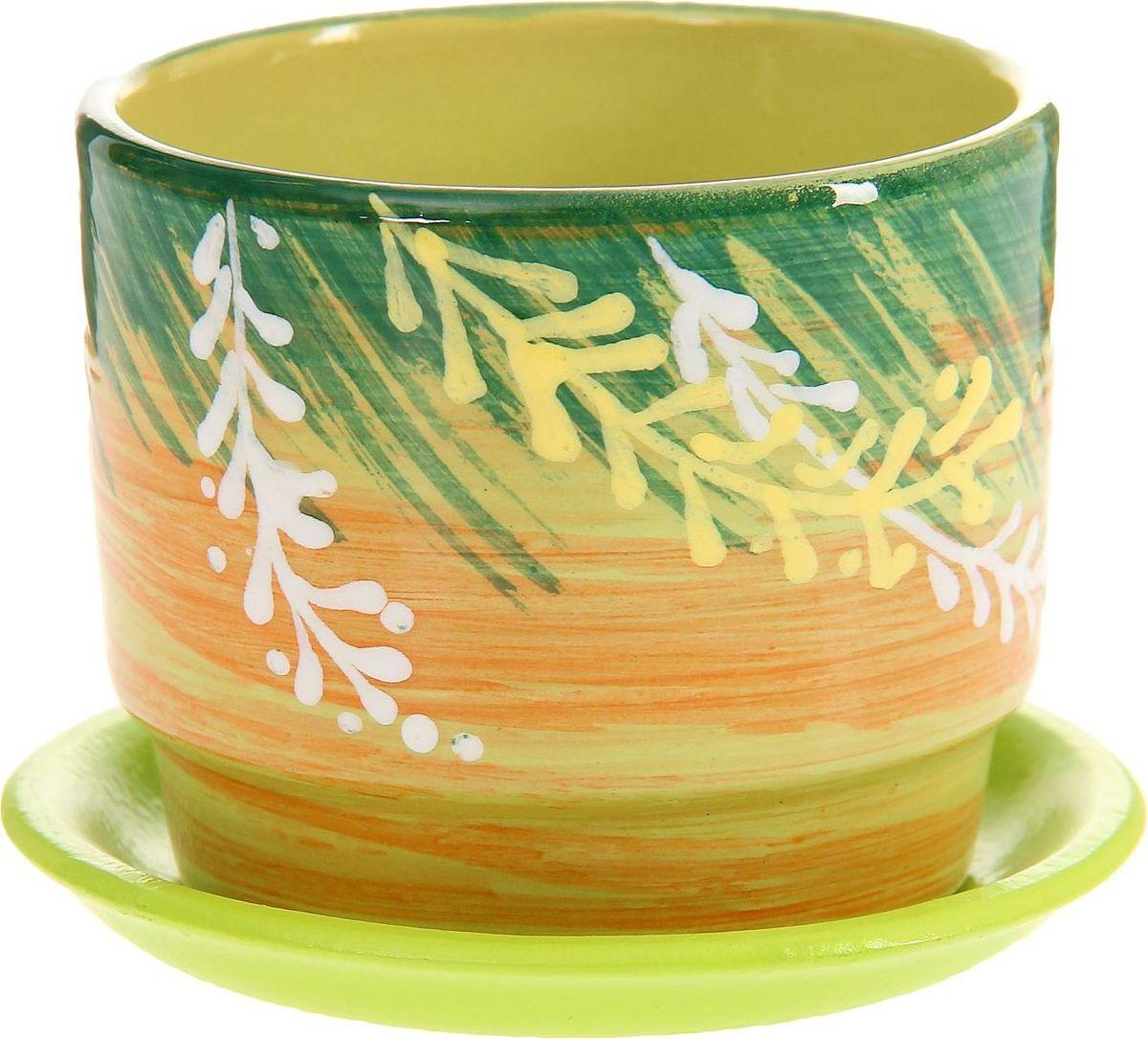 Кашпо Веточки, 0,3 л1157430Кашпо Веточки выполнено из керамики. Комнатные растения - всеобщие любимцы. Они радуют глаз, насыщают помещение кислородом и украшают пространство. Каждому из них необходим свой удобный и красивый дом. Кашпо из керамики прекрасно подходят для высадки растений: - за счёт пластичности глины и разных способов обработки существует великое множество форм и дизайнов- пористый материал позволяет испаряться лишней влаге - воздух, необходимый для дыхания корней, проникает сквозь керамические стенки! Кашпо Веточки позаботится о зелёном питомце, освежит интерьер и подчеркнёт его стиль.