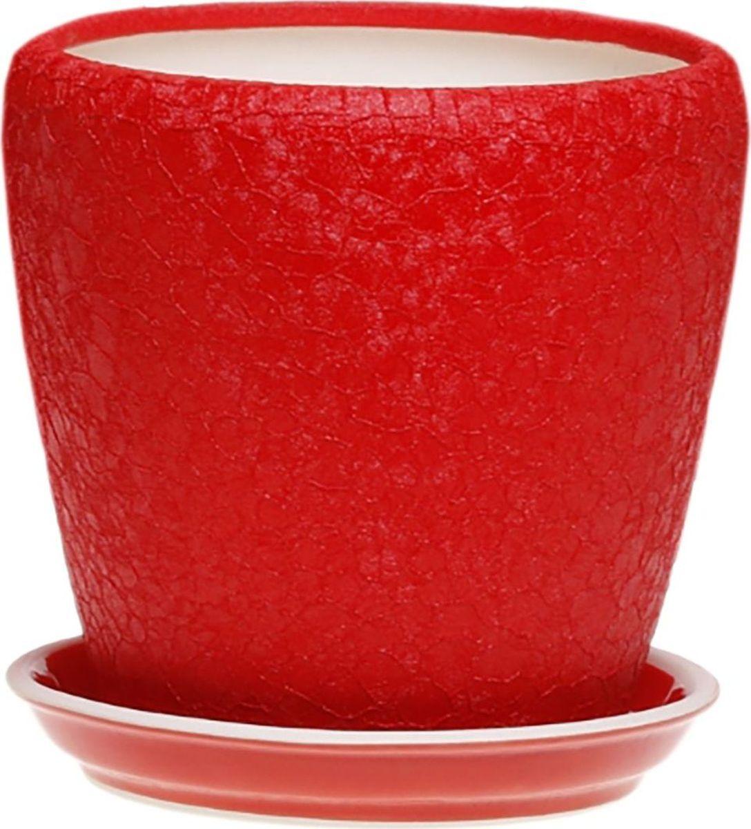 Кашпо Керамика ручной работы Грация, цвет: красный, 2,3 л1158466Комнатные растения — всеобщие любимцы. Они радуют глаз, насыщают помещение кислородом и украшают пространство. Каждому из них необходим свой удобный и красивый дом. Кашпо из керамики прекрасно подходят для высадки растений: за счет пластичности глины и разных способов обработки существует великое множество форм и дизайнов пористый материал позволяет испаряться лишней влаге воздух, необходимый для дыхания корней, проникает сквозь керамические стенки! позаботится о зеленом питомце, освежит интерьер и подчеркнет его стиль.