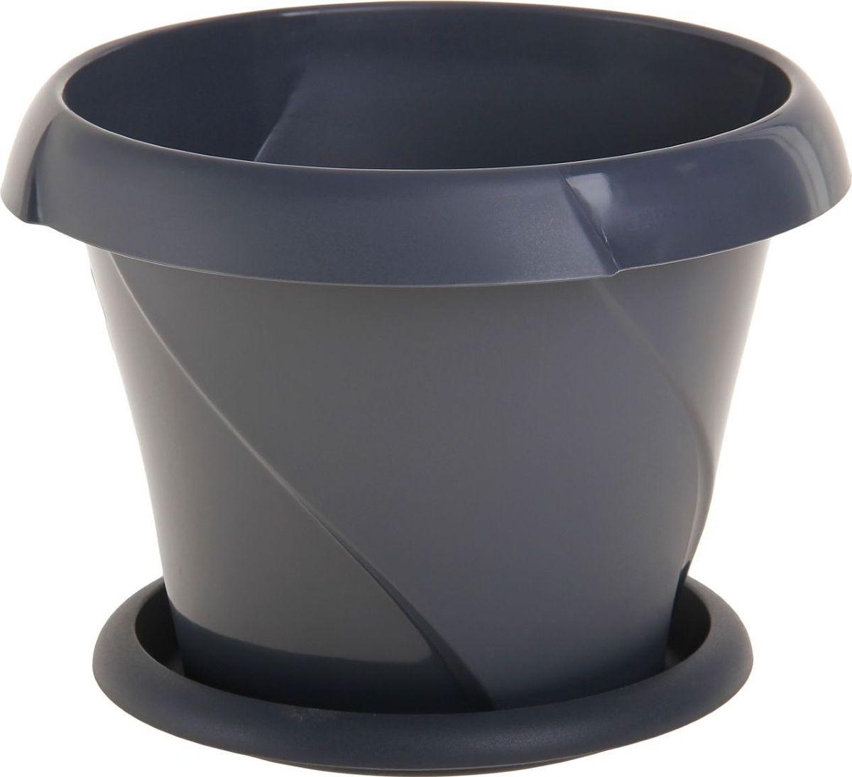 Кашпо Martika Флориана, с поддоном, цвет: серый, 27 х 27 х 21 см1159920Любой, даже самый современный и продуманный интерьер будет не завершённым без растений. Они не только очищают воздух и насыщают его кислородом, но и заметно украшают окружающее пространство. Такому полезному &laquo члену семьи&raquoпросто необходимо красивое и функциональное кашпо, оригинальный горшок или необычная ваза! Мы предлагаем - Кашпо с поддоником 5,4 л Флориана d=27 см, цвет серый!Оптимальный выбор материала &mdash &nbsp пластмасса! Почему мы так считаем? Малый вес. С лёгкостью переносите горшки и кашпо с места на место, ставьте их на столики или полки, подвешивайте под потолок, не беспокоясь о нагрузке. Простота ухода. Пластиковые изделия не нуждаются в специальных условиях хранения. Их&nbsp легко чистить &mdashдостаточно просто сполоснуть тёплой водой. Никаких царапин. Пластиковые кашпо не царапают и не загрязняют поверхности, на которых стоят. Пластик дольше хранит влагу, а значит &mdashрастение реже нуждается в поливе. Пластмасса не пропускает воздух &mdashкорневой системе растения не грозят резкие перепады температур. Огромный выбор форм, декора и расцветок &mdashвы без труда подберёте что-то, что идеально впишется в уже существующий интерьер.Соблюдая нехитрые правила ухода, вы можете заметно продлить срок службы горшков, вазонов и кашпо из пластика: всегда учитывайте размер кроны и корневой системы растения (при разрастании большое растение способно повредить маленький горшок)берегите изделие от воздействия прямых солнечных лучей, чтобы кашпо и горшки не выцветалидержите кашпо и горшки из пластика подальше от нагревающихся поверхностей.Создавайте прекрасные цветочные композиции, выращивайте рассаду или необычные растения, а низкие цены позволят вам не ограничивать себя в выборе.