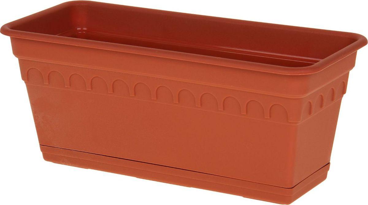 Ящик для цветов Martika Колывань, балконный, цвет: терракотовый, 40 х 17 х 17 см1159926Любой, даже самый современный и продуманный интерьер будет не завершенным без растений. Они не только очищают воздух и насыщают его кислородом, но и заметно украшают окружающее пространство. Такому полезному члену семьи просто необходимо красивое и функциональное кашпо, оригинальный горшок или необычная ваза! Мы предлагаем - Ящик для растений балконный Колывань 40 см с поддоном, цвет терракотовый! Оптимальный выбор материала - это пластмасса! Почему мы так считаем? Малый вес. С легкостью переносите горшки и кашпо с места на место, ставьте их на столики или полки, подвешивайте под потолок, не беспокоясь о нагрузке. Простота ухода. Пластиковые изделия не нуждаются в специальных условиях хранения. Их легко чистить достаточно просто сполоснуть теплой водой. Никаких царапин. Пластиковые кашпо не царапают и не загрязняют поверхности, на которых стоят. Пластик дольше хранит влагу, а значит растение реже нуждается в поливе. Пластмасса не пропускает воздух корневой системе растения не грозят резкие перепады температур. Огромный выбор форм, декора и расцветок вы без труда подберете что-то, что идеально впишется в уже существующий интерьер. Соблюдая нехитрые правила ухода, вы можете заметно продлить срок службы горшков, вазонов и кашпо из пластика: всегда учитывайте размер кроны и корневой системы растения (при разрастании большое растение способно повредить маленький горшок) берегите изделие от воздействия прямых солнечных лучей, чтобы кашпо и горшки не выцветали держите кашпо и горшки из пластика подальше от нагревающихся поверхностей. Создавайте прекрасные цветочные композиции, выращивайте рассаду или необычные растения, а низкие цены позволят вам не ограничивать себя в выборе.